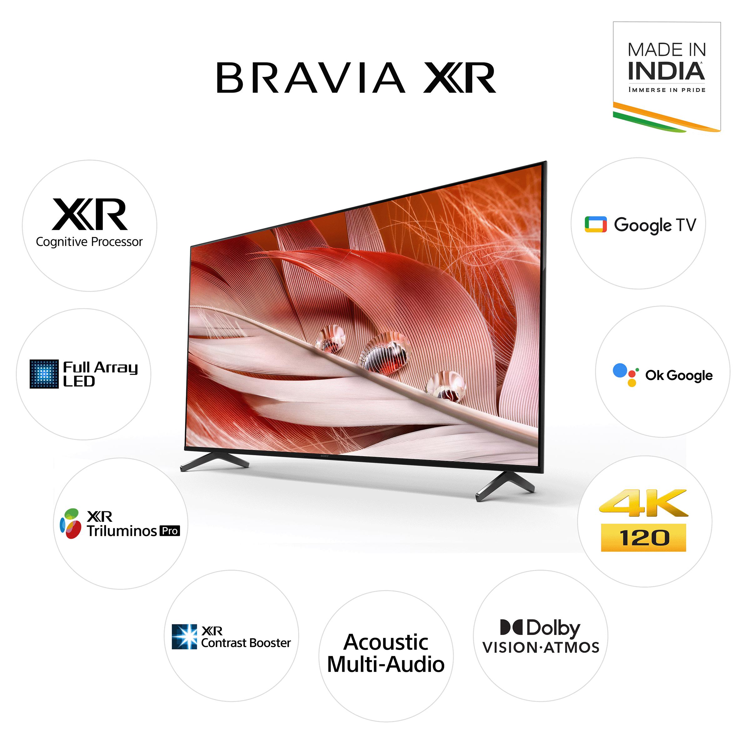 Sony Bravia X90J Series139cm (55 Inch) Ultra HD 4K Full Array LED Google Smart TV (XR Cognitive Processor, XR-55X90J, Black) 10