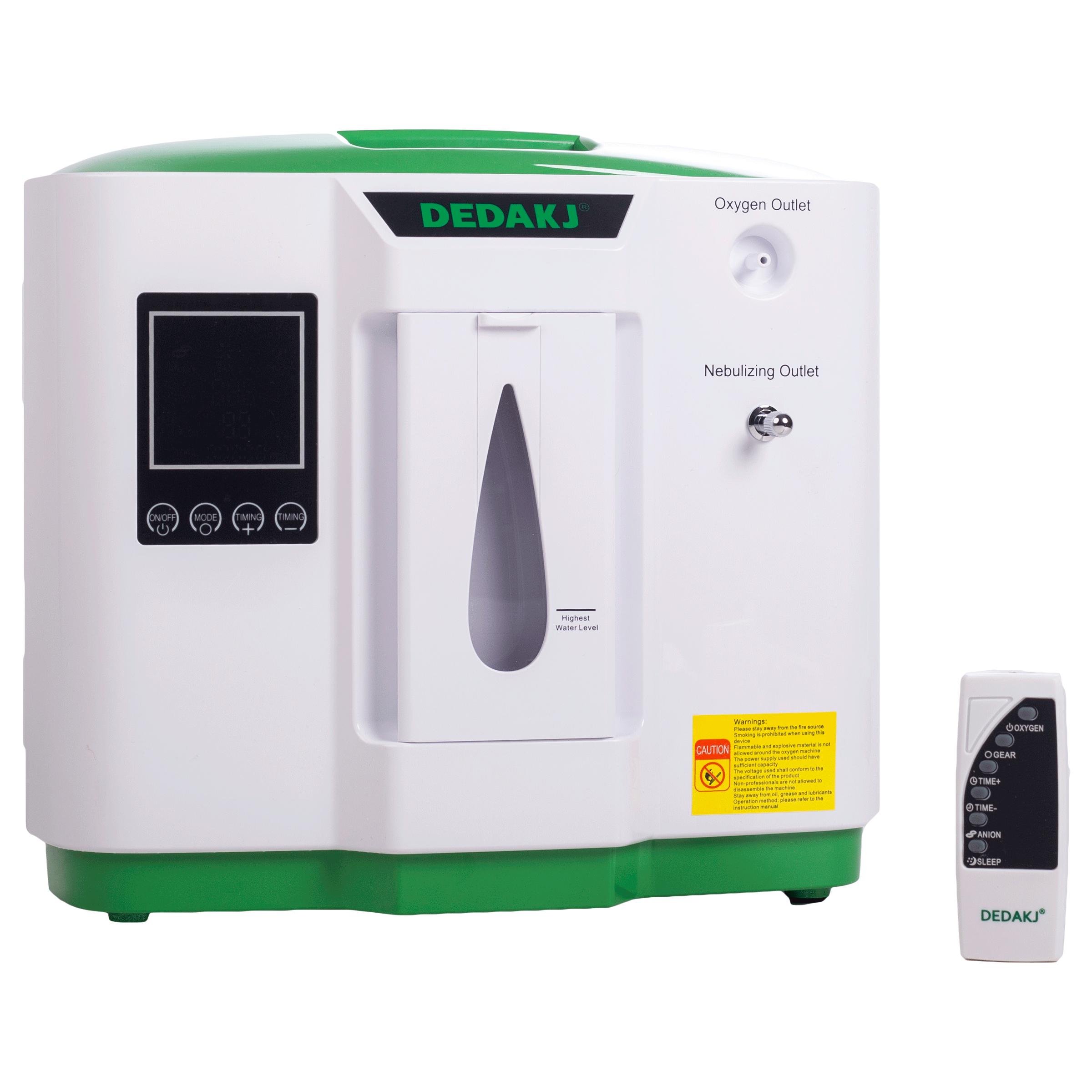 DEDAKJ Household Oxygen Concentrator (Flow Rate: 2 - 9 L/min, Oxygen Concentration 30 - 90%, DE-2AW, White)_1