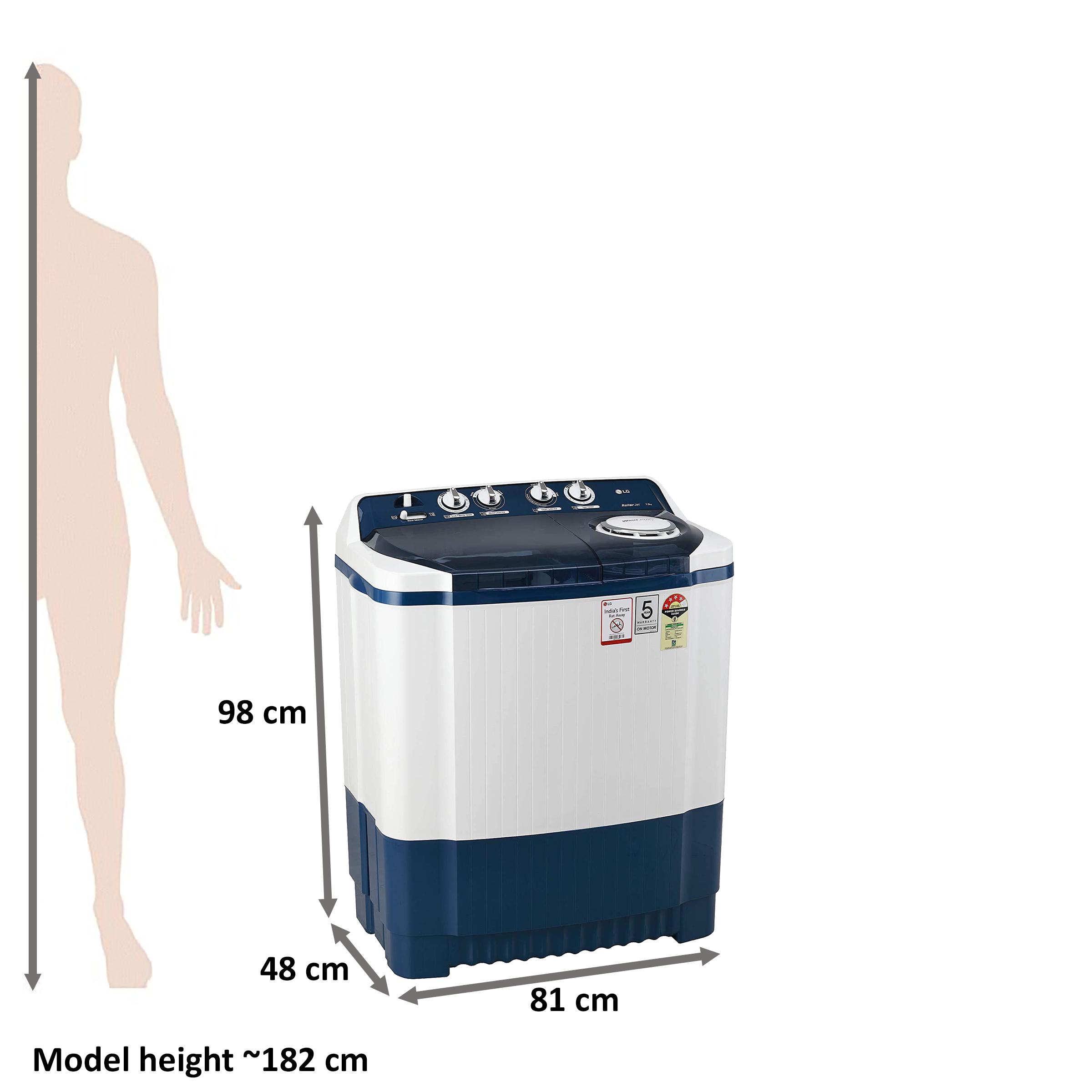 LG 7 kg 4 Star Semi-Automatic Top Load Washing Machine (Auto Restart, P7025SBAY.ADBQEIL, Dark Blue)_2