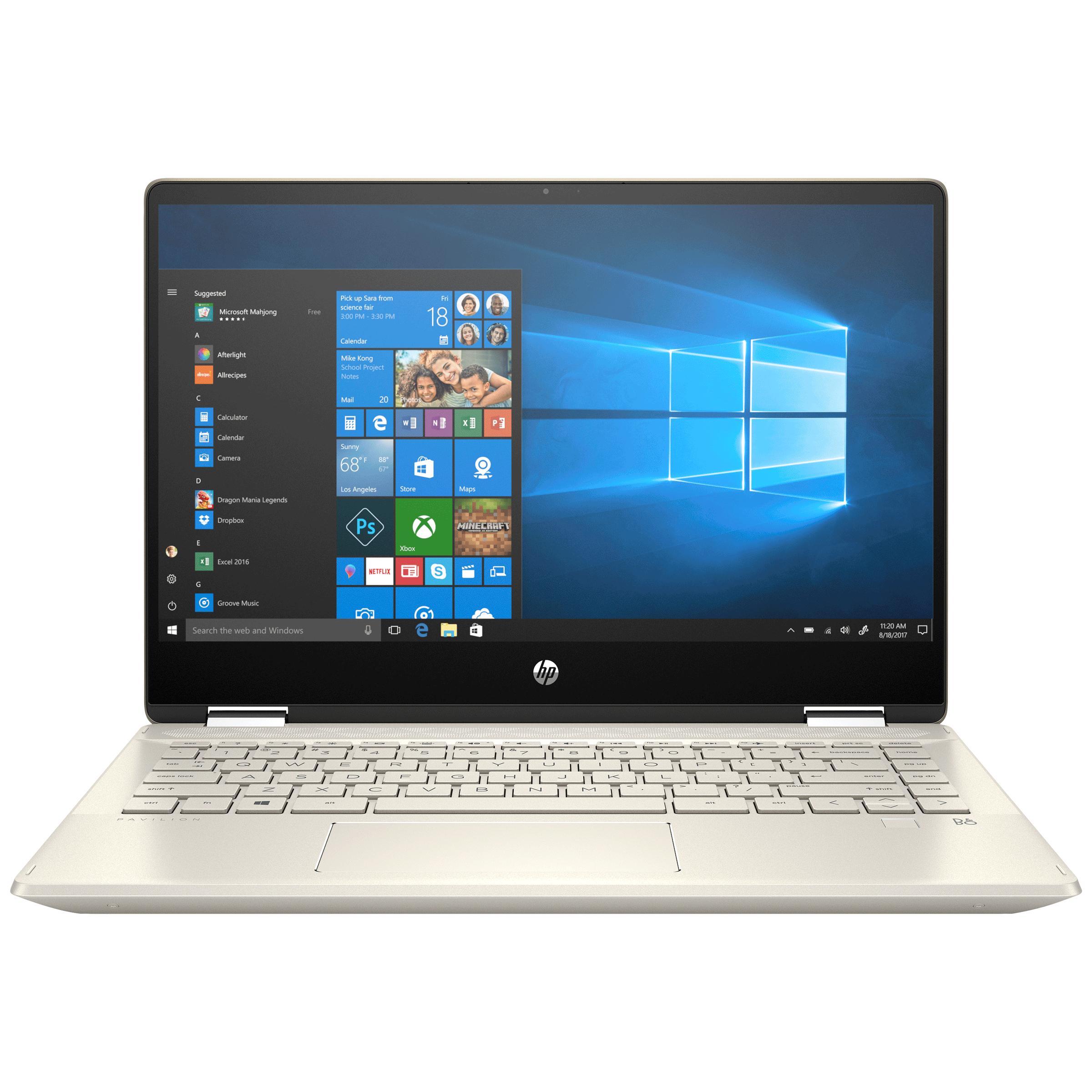 HP Pavilion x360 Convertible 14-dh1502TU (401S0PA#ACJ) Core i3 10th Gen Windows 10 Home 2-in-1 Laptop (8GB RAM, 512GB SSD, Intel UHD Graphics, MS Office, 35.56cm, Warm Gold)_1