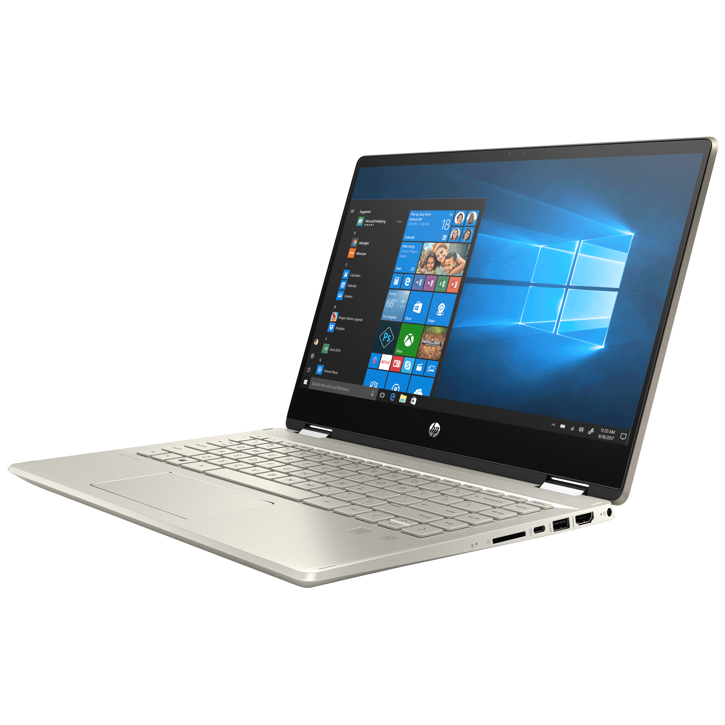 HP Pavilion x360 Convertible 14-dh1502TU (401S0PA#ACJ) Core i3 10th Gen Windows 10 Home 2-in-1 Laptop (8GB RAM, 512GB SSD, Intel UHD Graphics, MS Office, 35.56cm, Warm Gold)_3