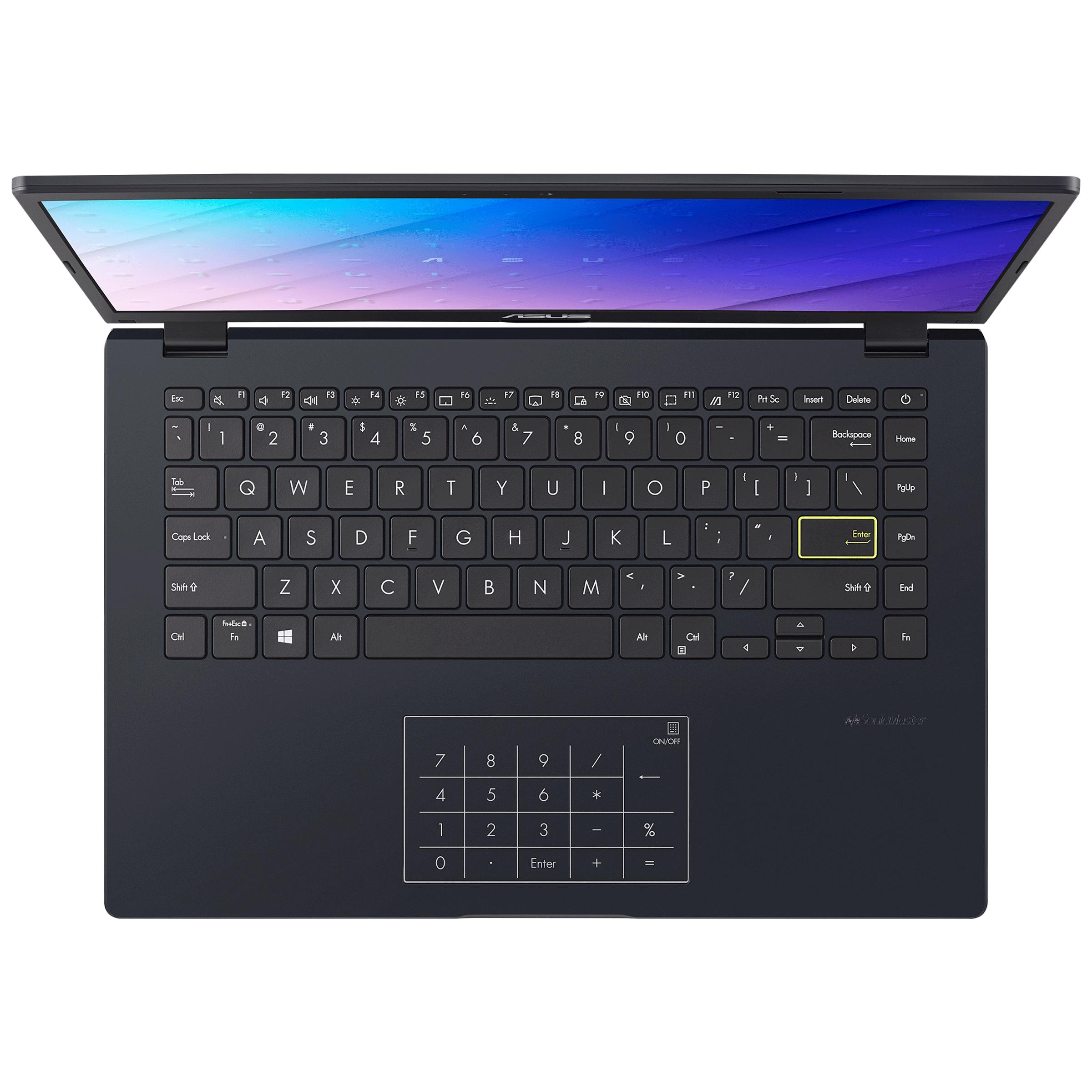 Asus E410MA-EB001T (90NB0Q11-M22940) Celeron Windows 10 Home Laptop (4GB RAM, 256GB SSD, Intel UHD Graphics 600, 35.56cm, Peacock Blue) 4