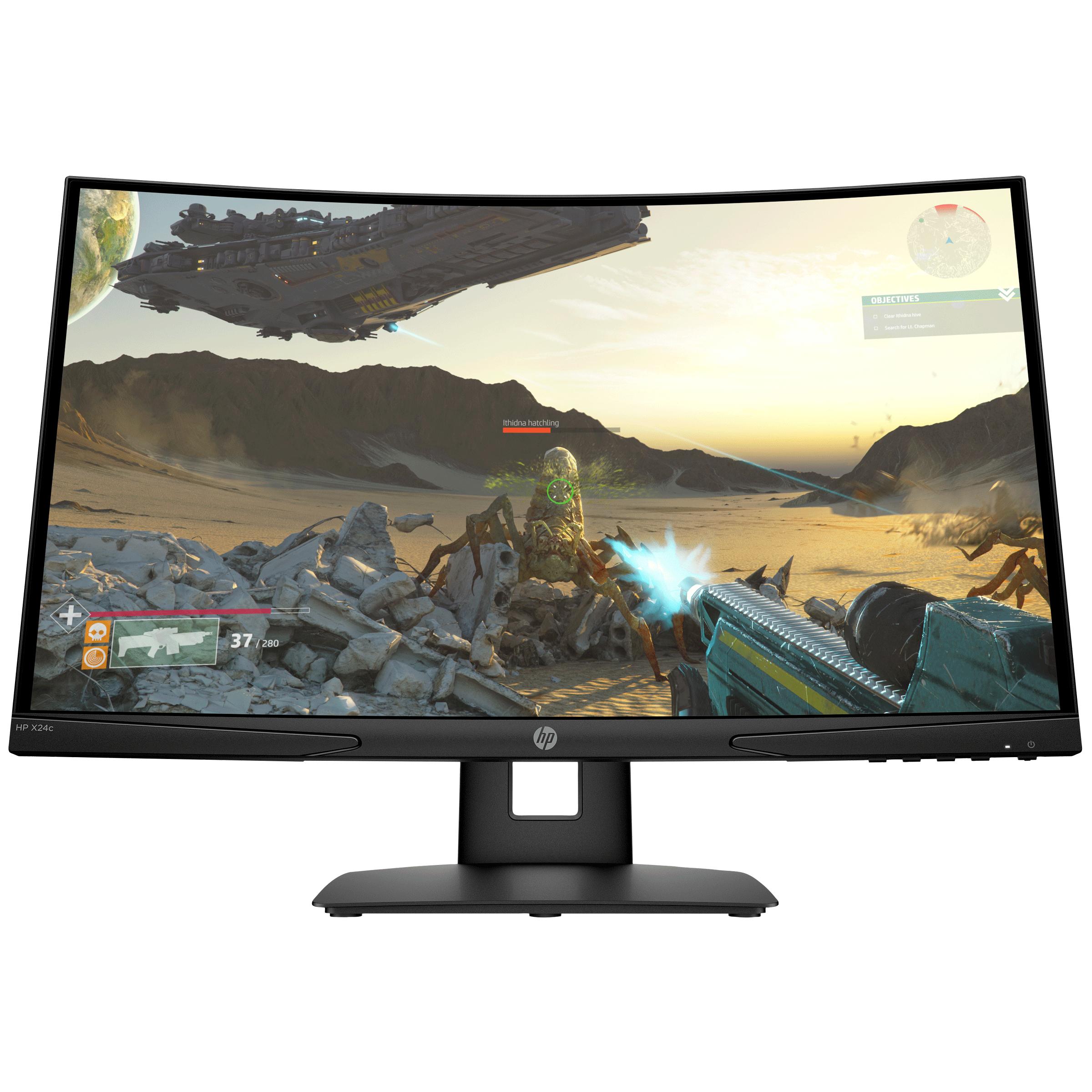HP X24C 59.94cm (23.6 Inches) Full HD LED-Backlit Gaming Monitor (AMD FreeSync Technology, HDMI + DisplayPort, 144 Hz, 13Q95AA, Black)_1