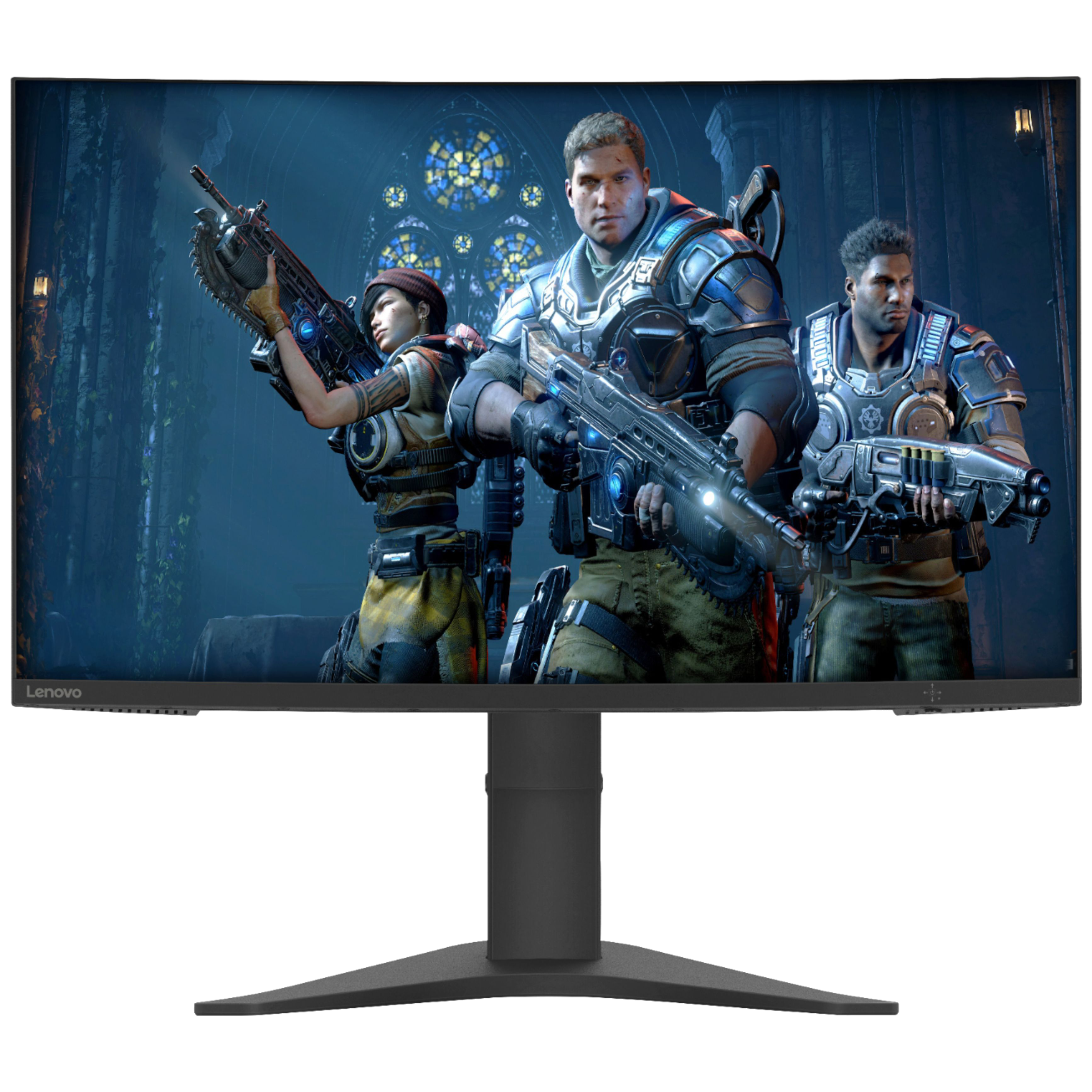 Lenovo G27c-10 68.58cm (27 Inches) Full HD LCD Gaming Monitor (AMD Radeon FreeSync Technology, HDMI + DisplayPort + Aux, 165 Hz, 66A3GACBIN, Black)_1