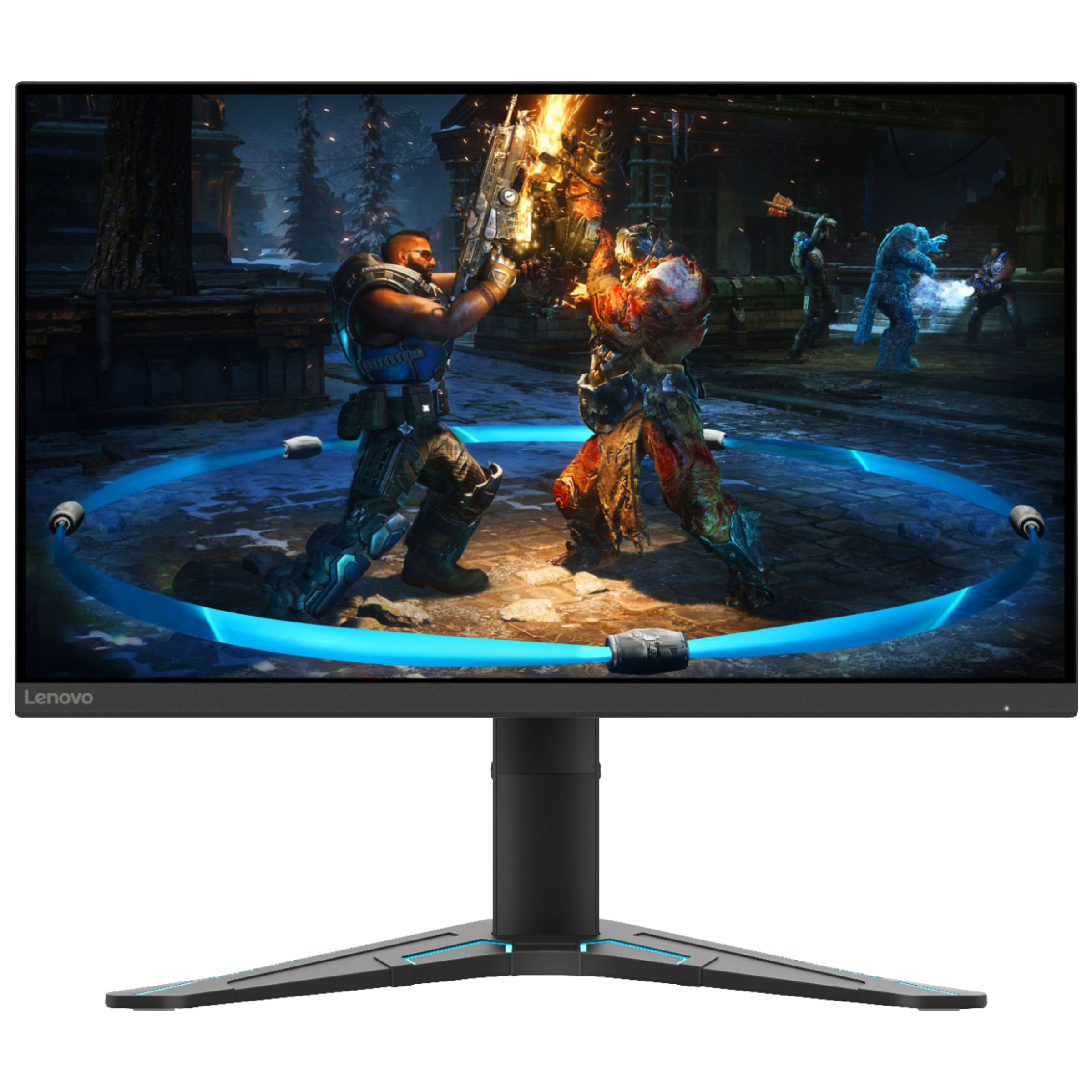 Lenovo G27-20 68.5cm (27 Inches) Full HD IPS Screen Gaming Monitor (AMD FreeSync Premium Technology, HDMI + DisplayPort + Aux, 144 Hz, 66C2GAC1IN, Black)_1