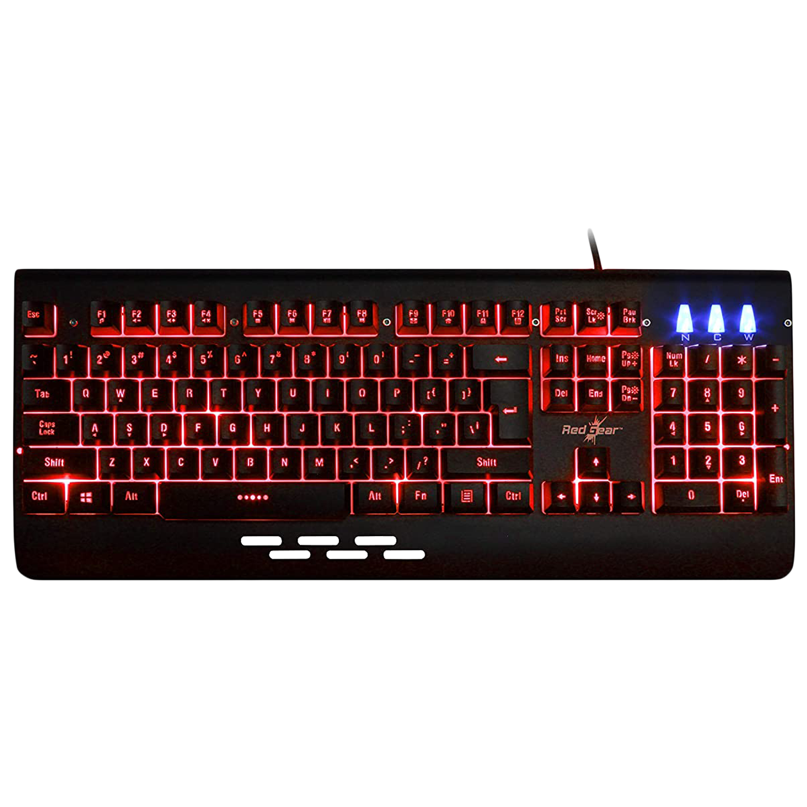 Red Gear Blaze 7 Wired Gaming Keyboard (LED Color Backlight, Black)_1