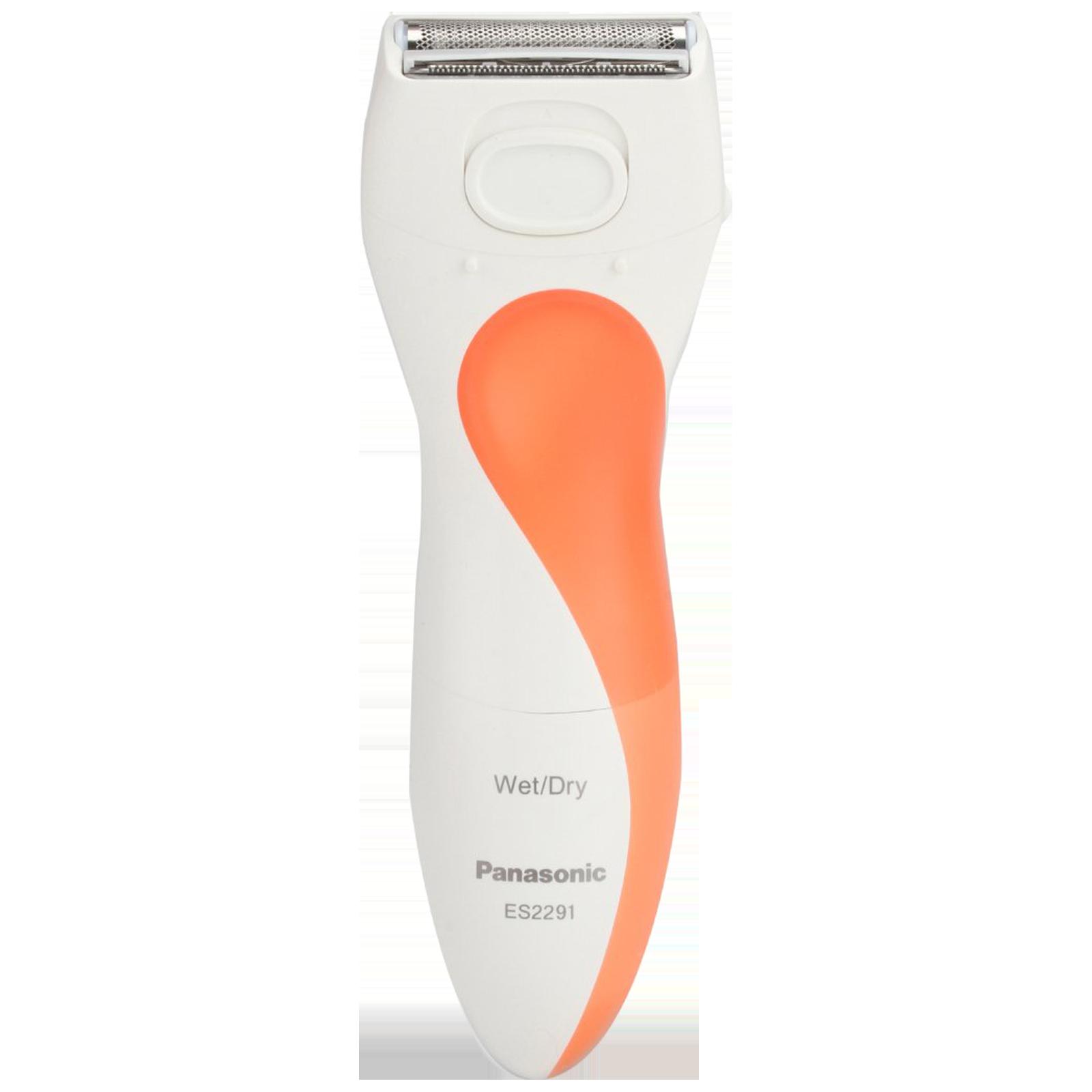 Panasonic Stainless Steel Blades Cordless Wet & Dry Shaver (Washable Heads, ES2291D503, Orange/White)_1