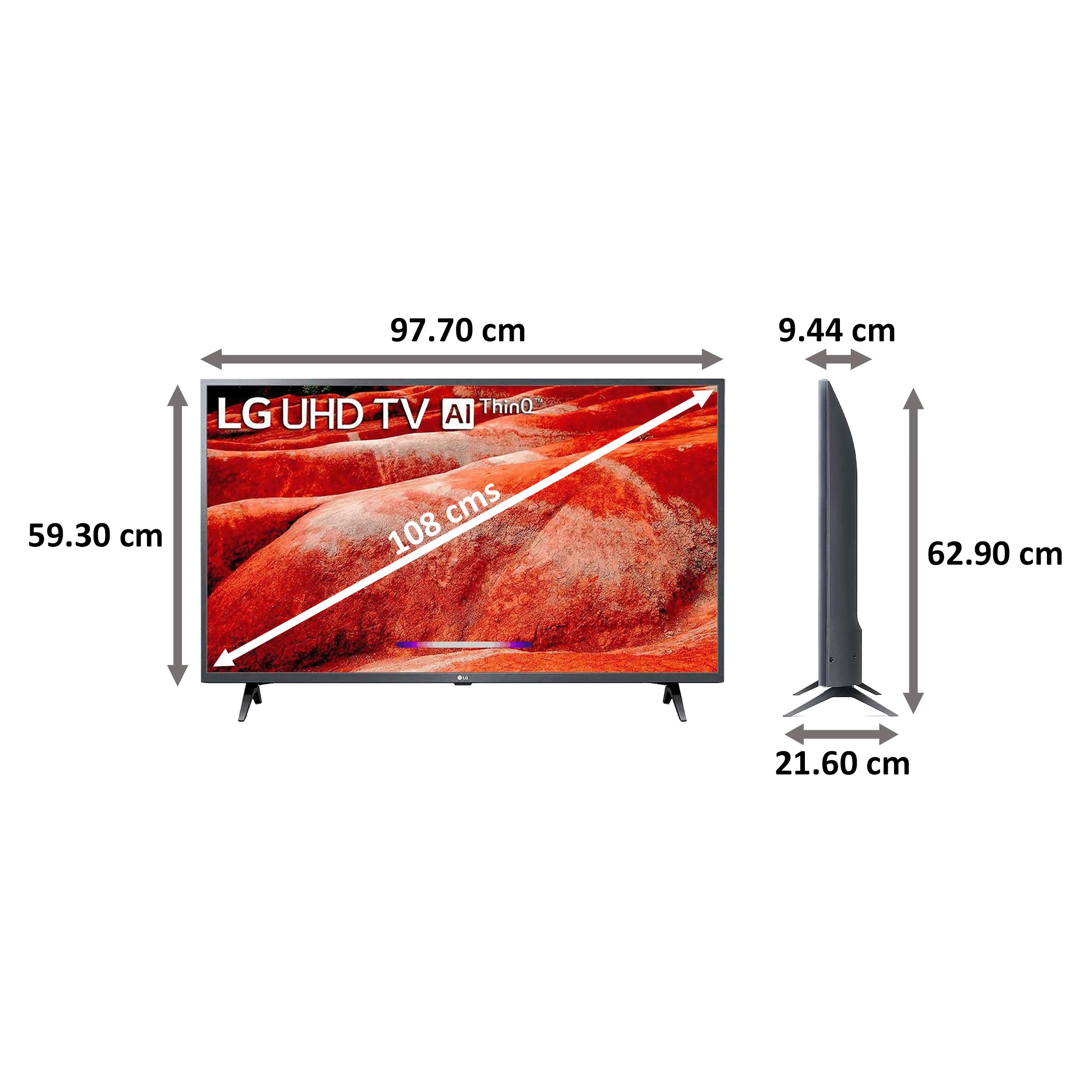 LG 108cm (43 Inch) 4K Ultra HD LED Smart TV (Google Assistant, 43UM7780, Ceramic Black) 2