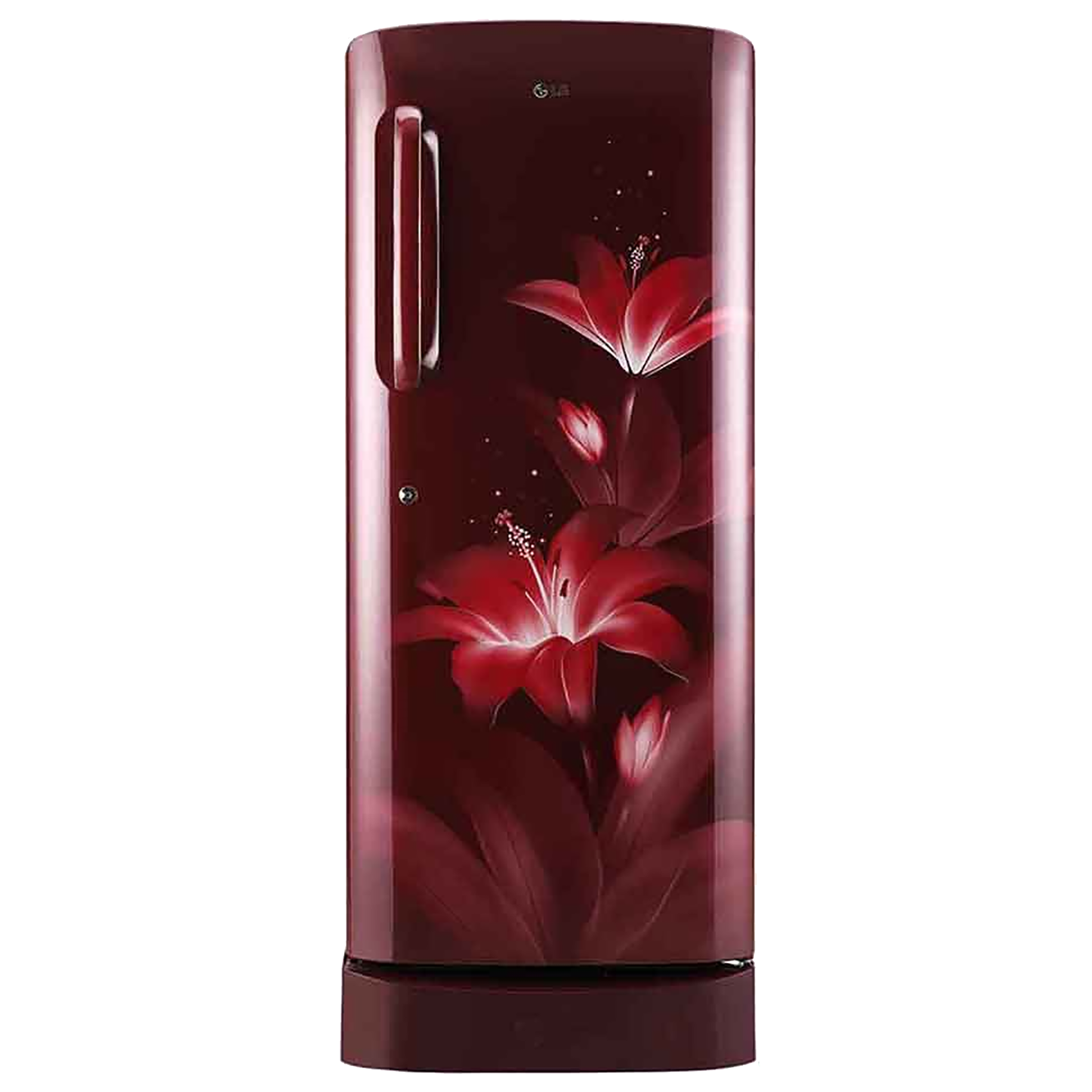 LG 235 Litres 4 Star Direct Cool Inverter Single Door Refrigerator (Toughened Glass Shelves, GL-D241ARGY, Ruby Glow)_1
