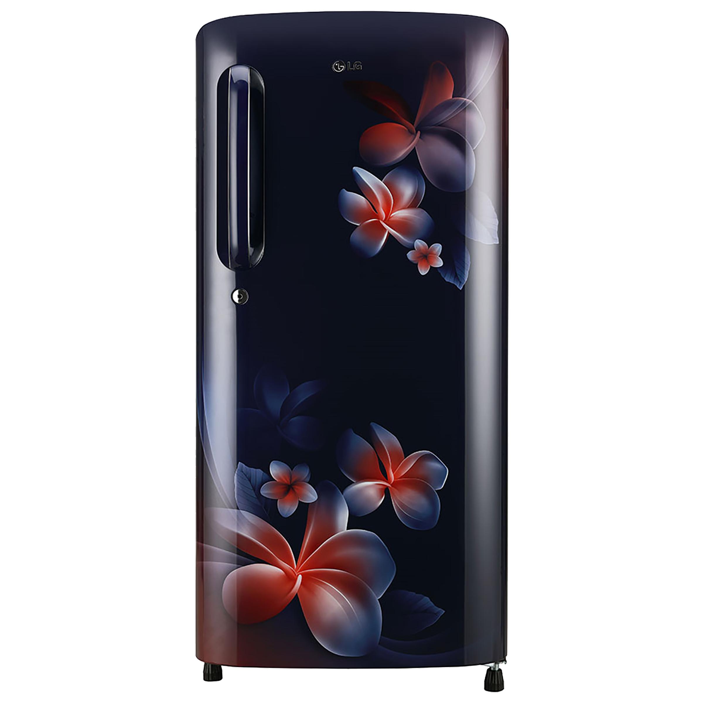 LG 190 Litres 3 Star Direct Cool Single Door Refrigerator (Fastest Ice Making, GL-B201ABPD.ABPZEB, Blue Plumeria)_1