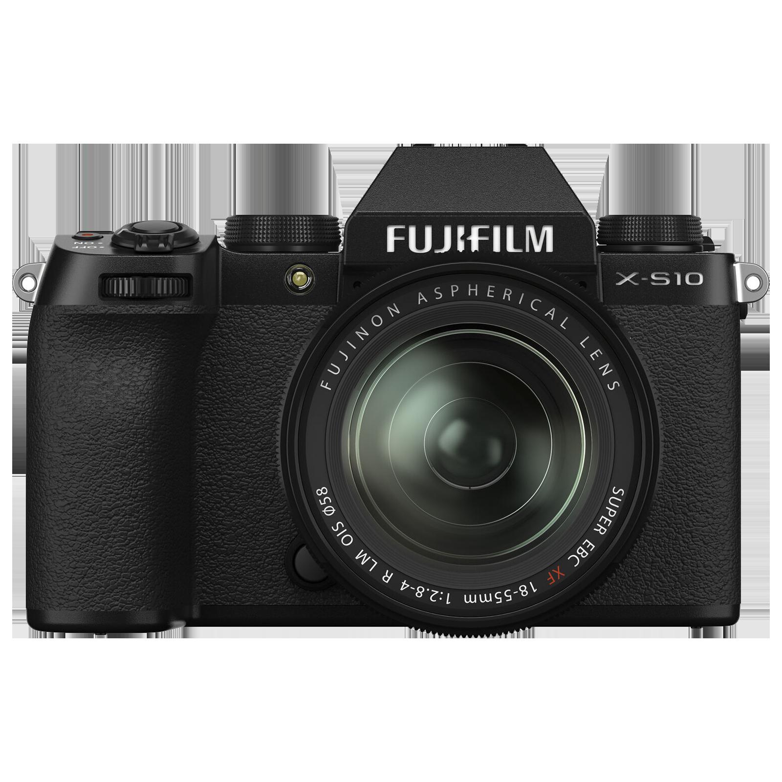 Fujifilm X Series 26.1MP Mirrorless Camera (XF 18 - 55mm Lens, X-Trans CMOS 4 Sensor, X-S10, Black)_1