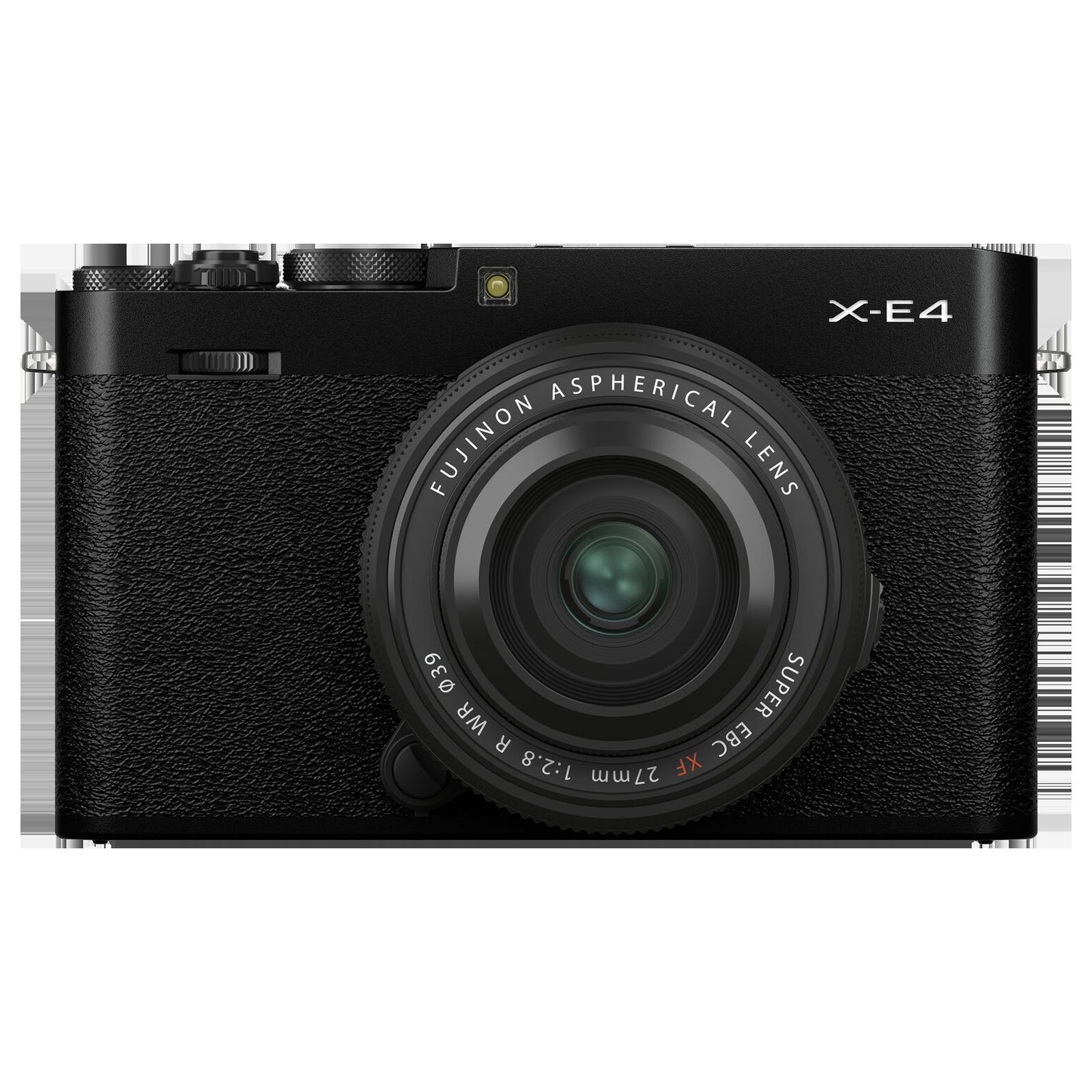 Fujifilm X-E4 26.1MP Mirrorless Camera (XF 27 mm Lens, Electronic Viewfinder, Black)_1