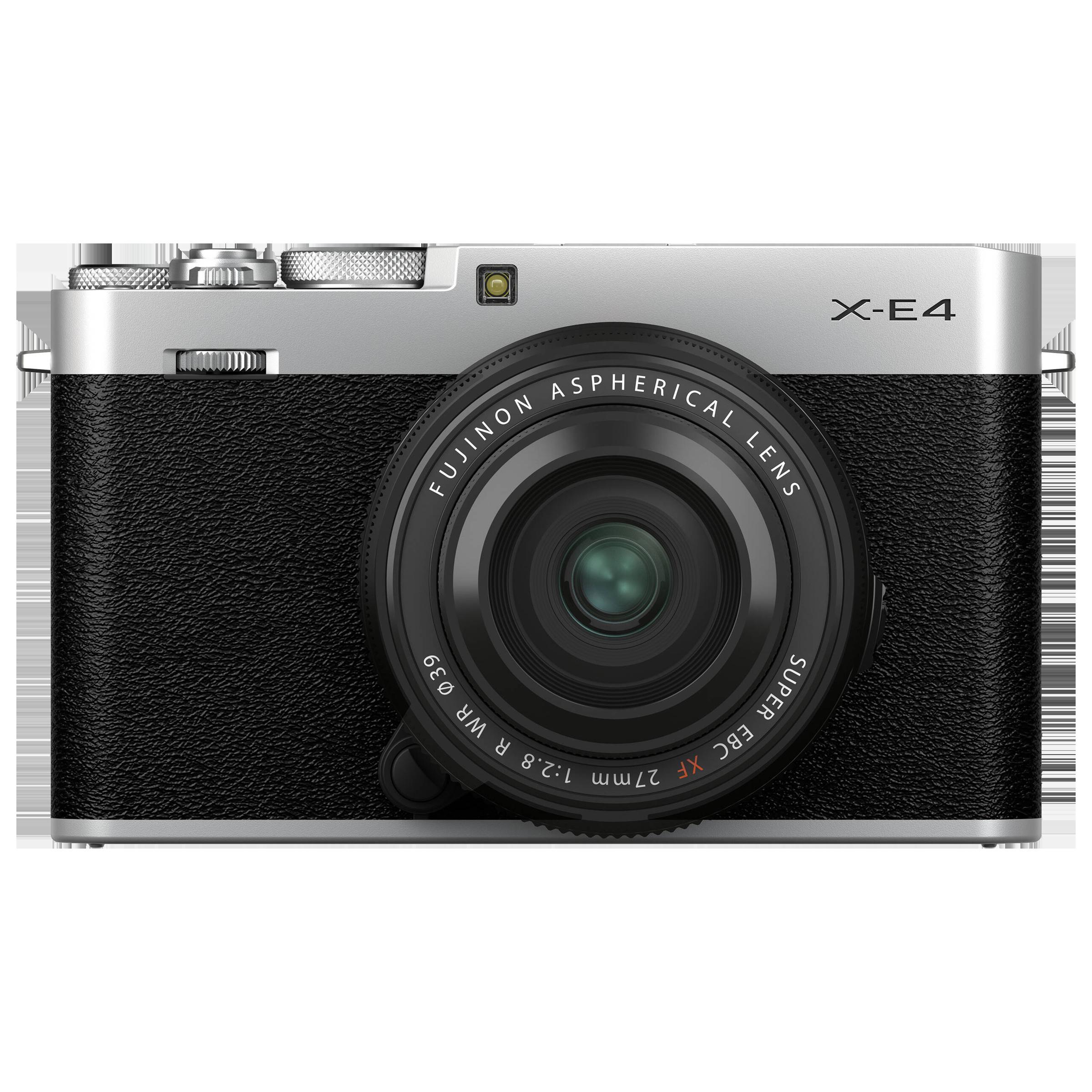 Fujifilm X-E4 26.1MP Mirrorless Camera (XF 27 mm Lens, X-Trans CMOS 4 Sensor, Silver)_1