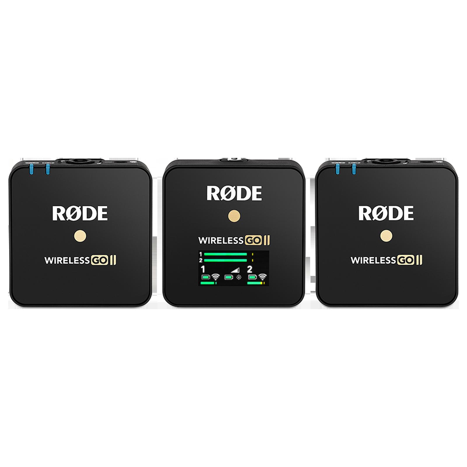 Rode Wireless Go II Hanging Wireless Transmitter Microphone (On-board Recording, WIGOII, Black)_1