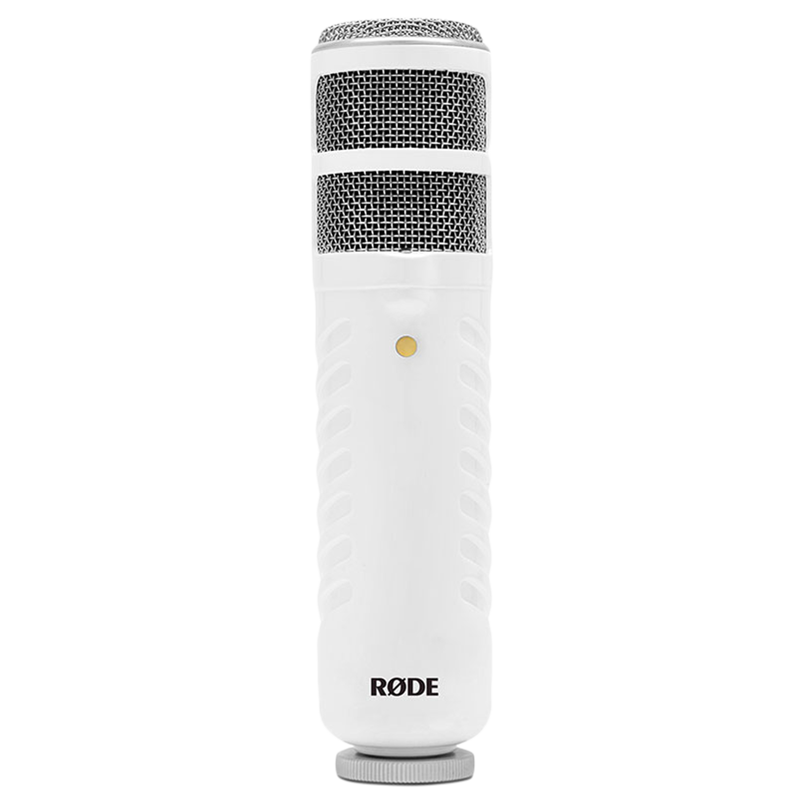 Rode Podcaster Hanging Wired Dynamic Microphone (Windows and Mac Compatible, White/Gold)_1
