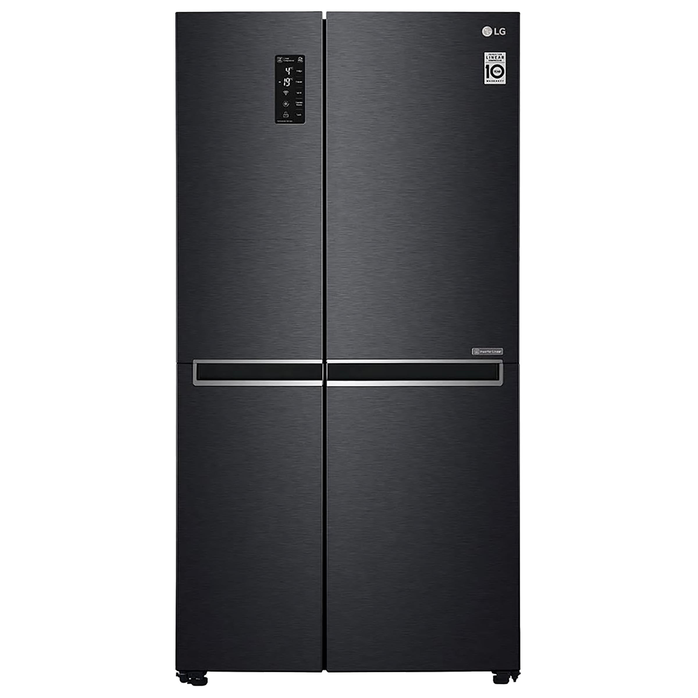 LG 687 Litres Frost Free Inverter Side-by-Side Door Refrigerator (Multi Air Flow, GC-B247SQUV.BMCQEB, Matte Black)_1