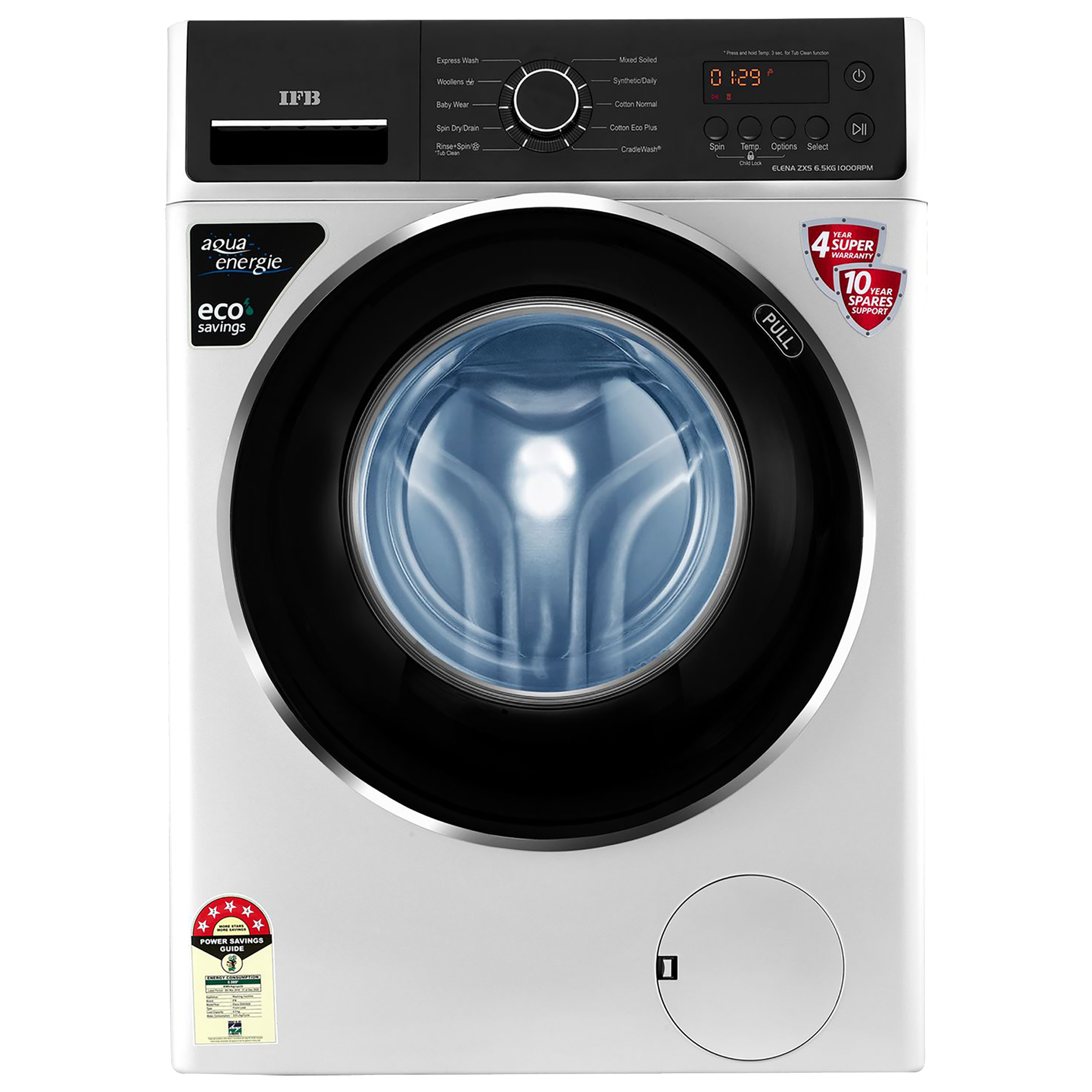 IFB Elena ZXS 6.5 Kg 5 Star Fully Automatic Front Load Washing Machine (Inbuilt Heater, Silver)_1