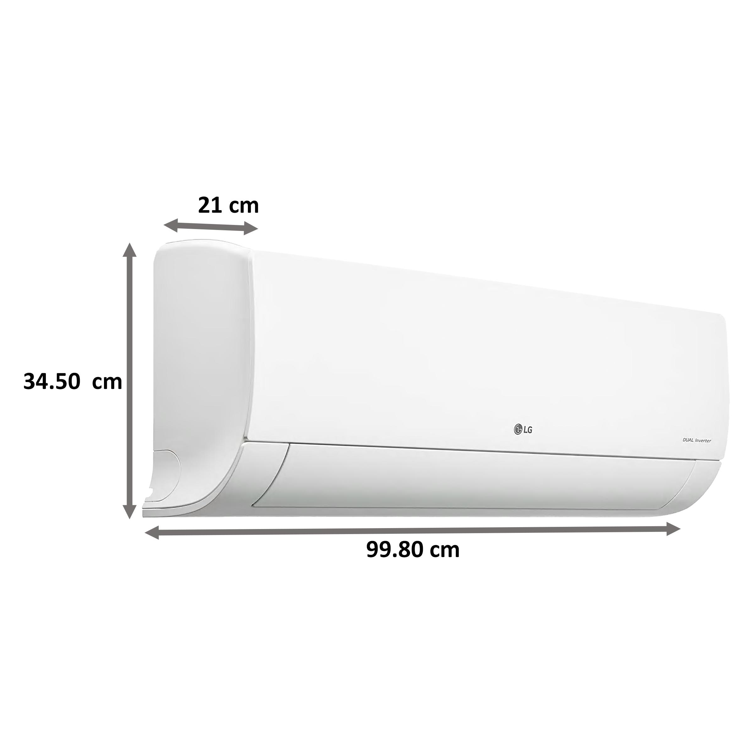 LG 1.5 Ton 5 Star Inverter Split AC (Air Purification Filter, Copper Condenser, MS-Q18ANZA, White)_3