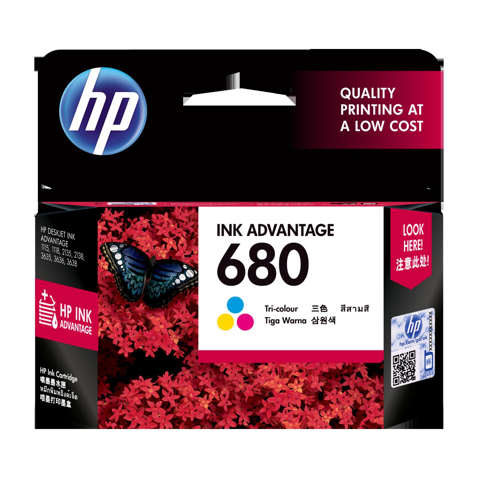HP 680 Original Ink Advantage Cartridge (F6V26AA, Tri-color)_1