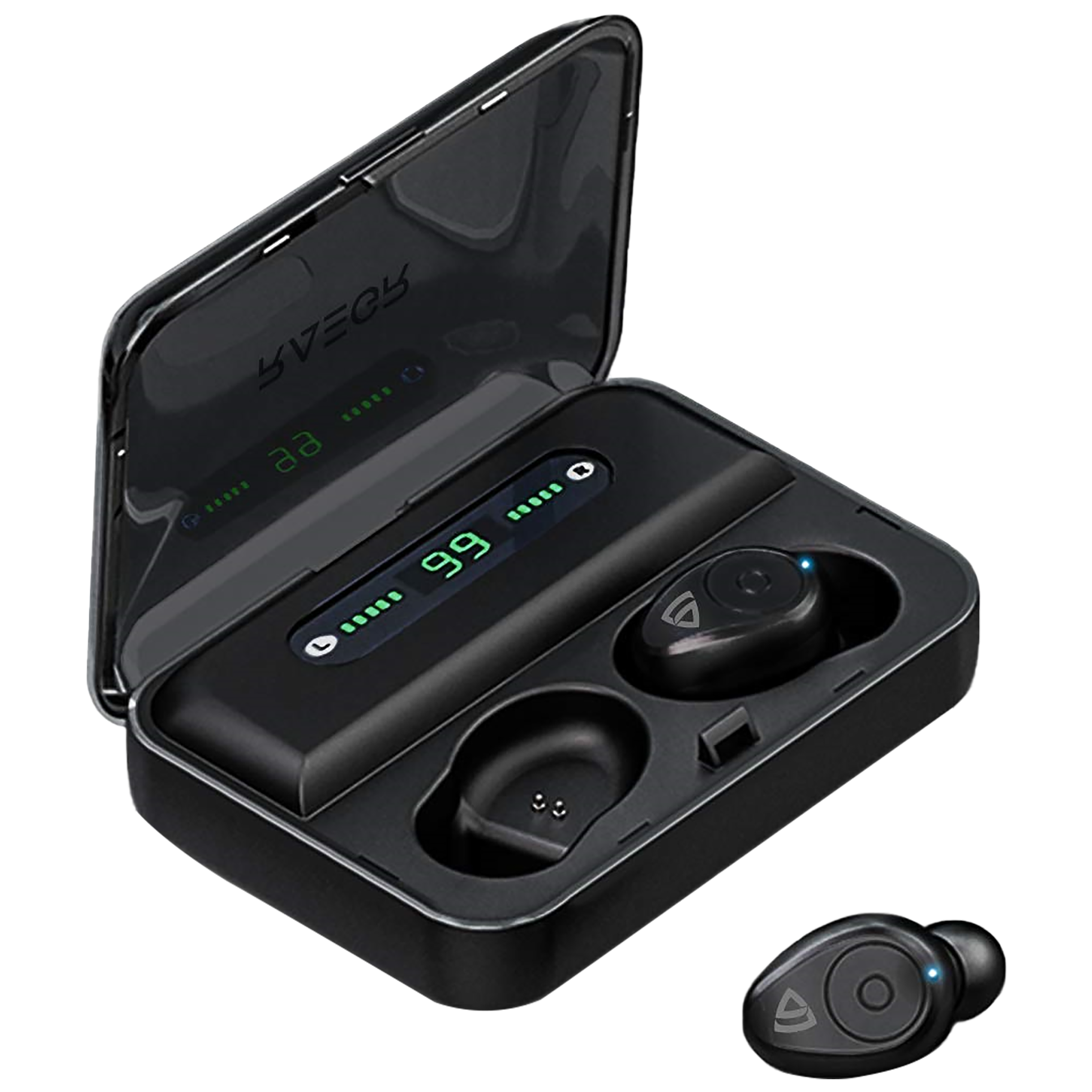 RAEGR AirShots 500 In-Ear Active Noise Cancellation Truly Wireless Earbuds With Mic (Bluetooth 4.0, RG10050, Black)_1