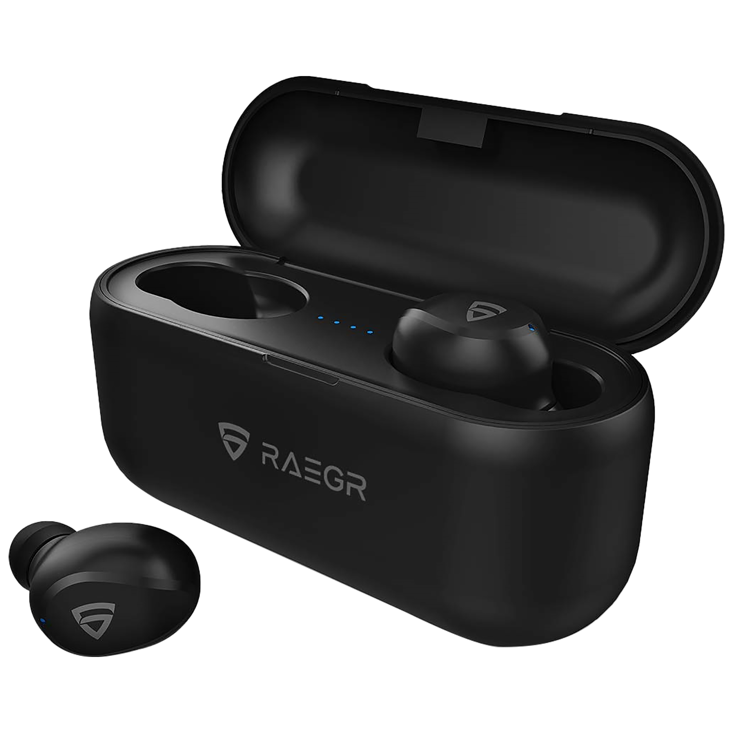 RAEGR AirShots 700 Plus In-Ear Active Noise Cancellation Truly Wireless Earbuds With Mic (Bluetooth 4.0, RG10065, Black)_1