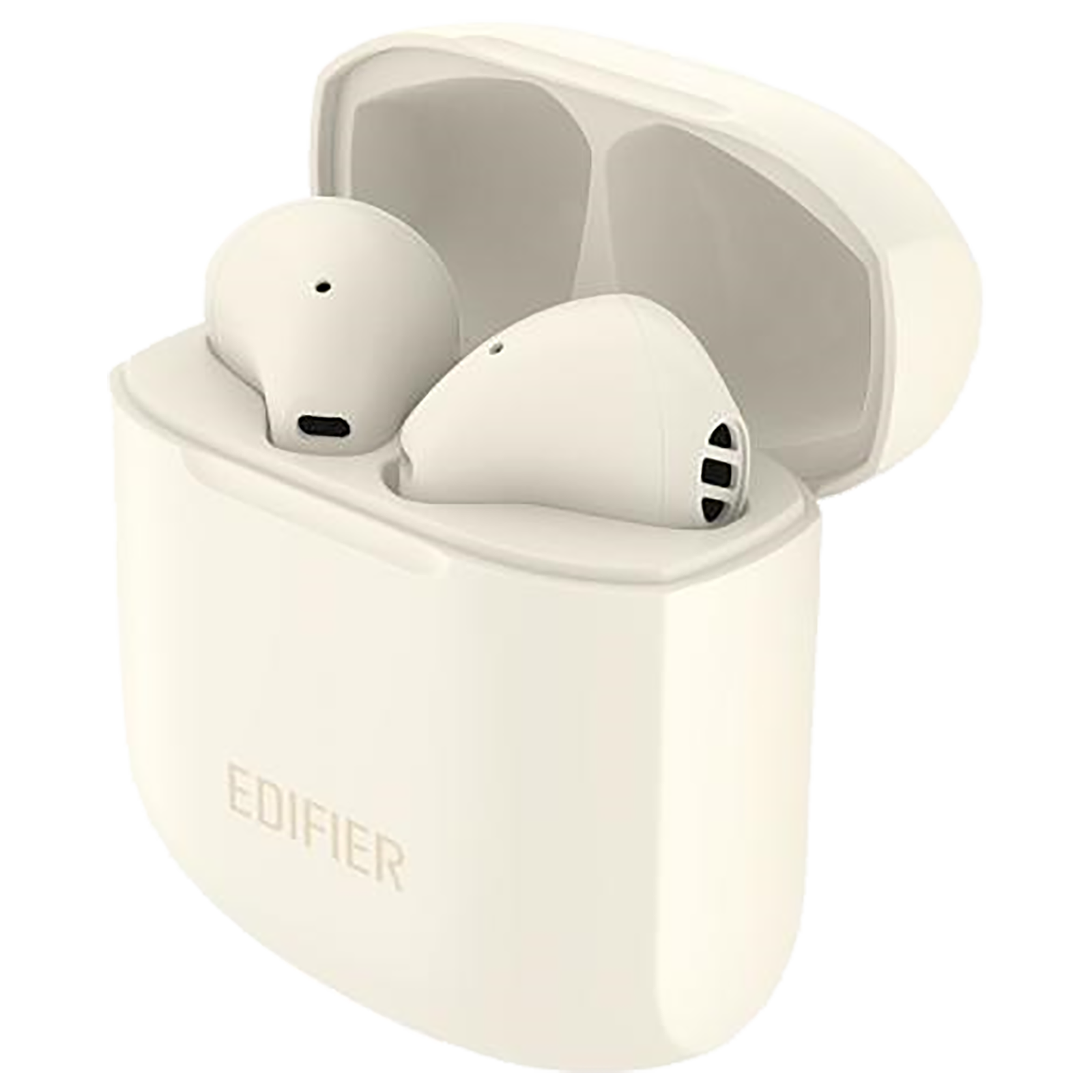 Edifier TWS 200 Plus In-Ear Active Noise Cancellation Truly Wireless Earbuds With Mic (Bluetooth 4.0, Qualcomm TrueWireless Mirroring Technology, Ivory)_1
