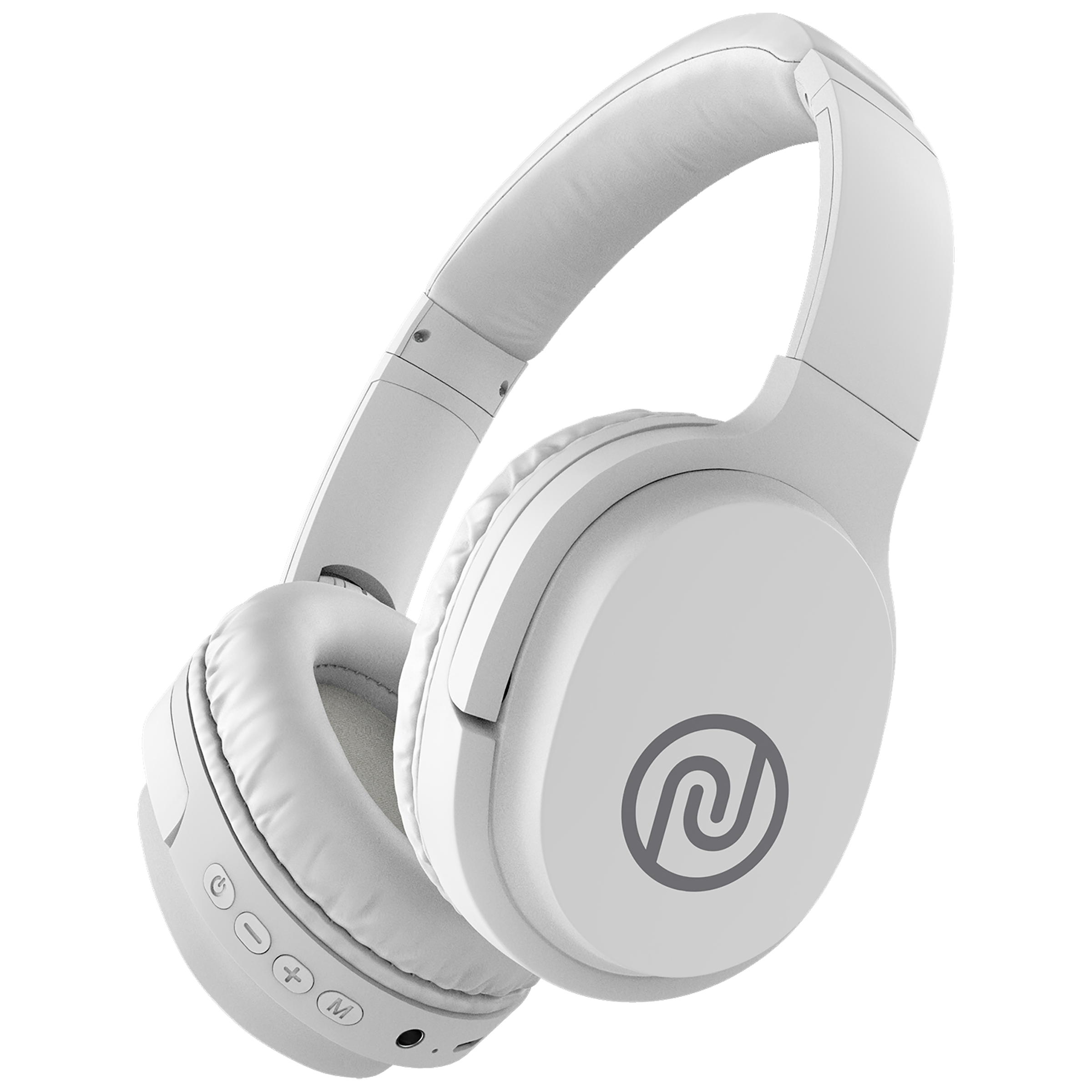 Noise One On-Ear Noise Isolation Wireless Headphone with Mic (Bluetooth 5.0, Tru BassTM Technology, White)_1