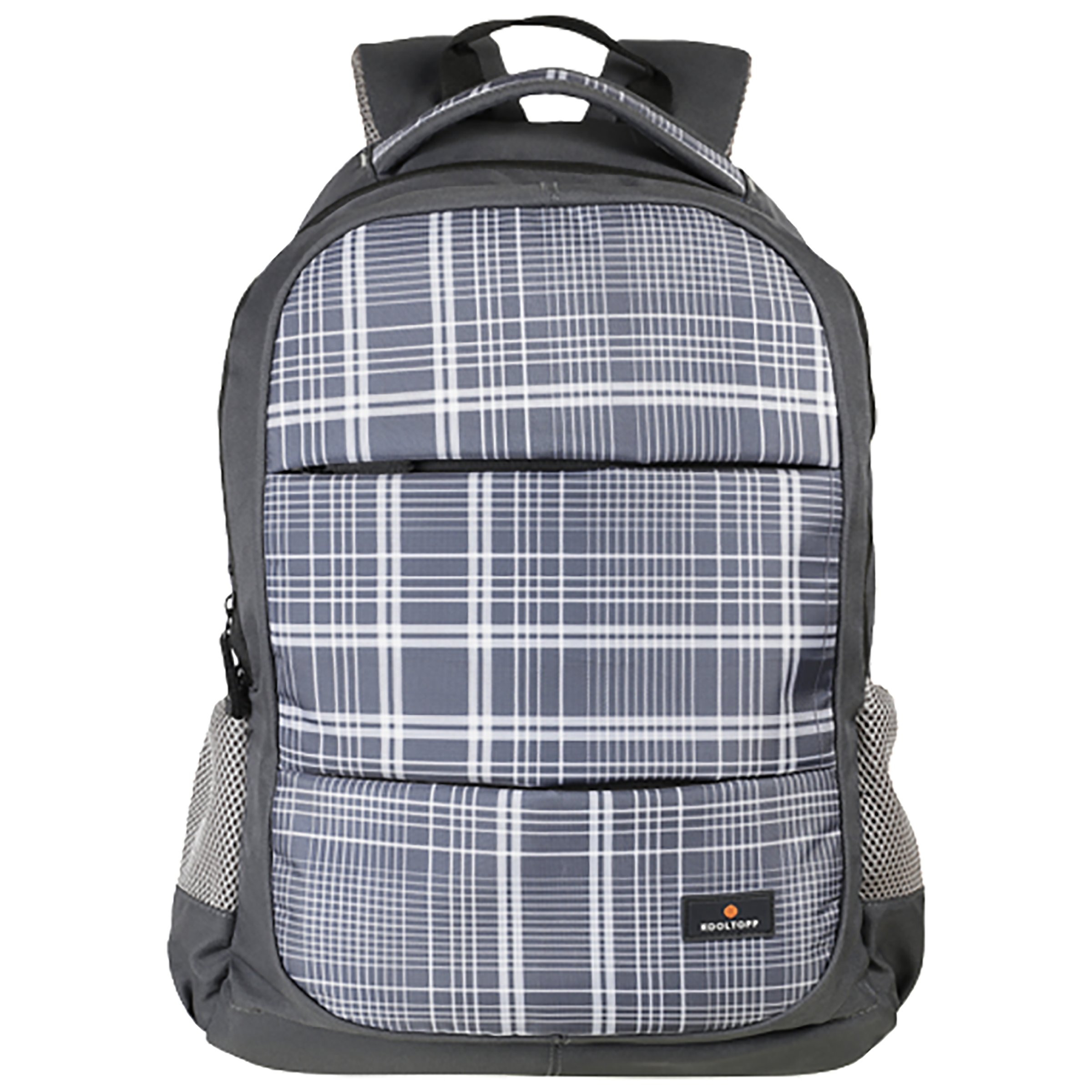 Kooltopp Checks 25 Litres Polyester Backpack for 15.6 Inch Laptop (Water Resistant, KT434-11, Grey)_1