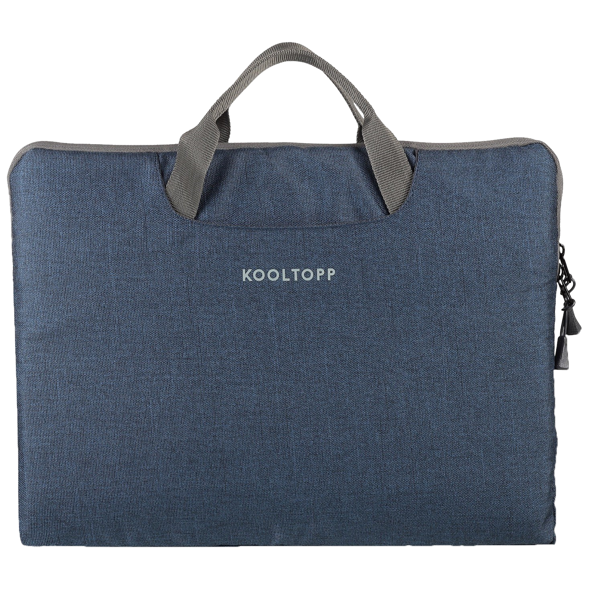 Kooltopp Classy Polyester Sleeve for 14 Inch Laptop (Water Resistant, KT444-16, Blue)_1
