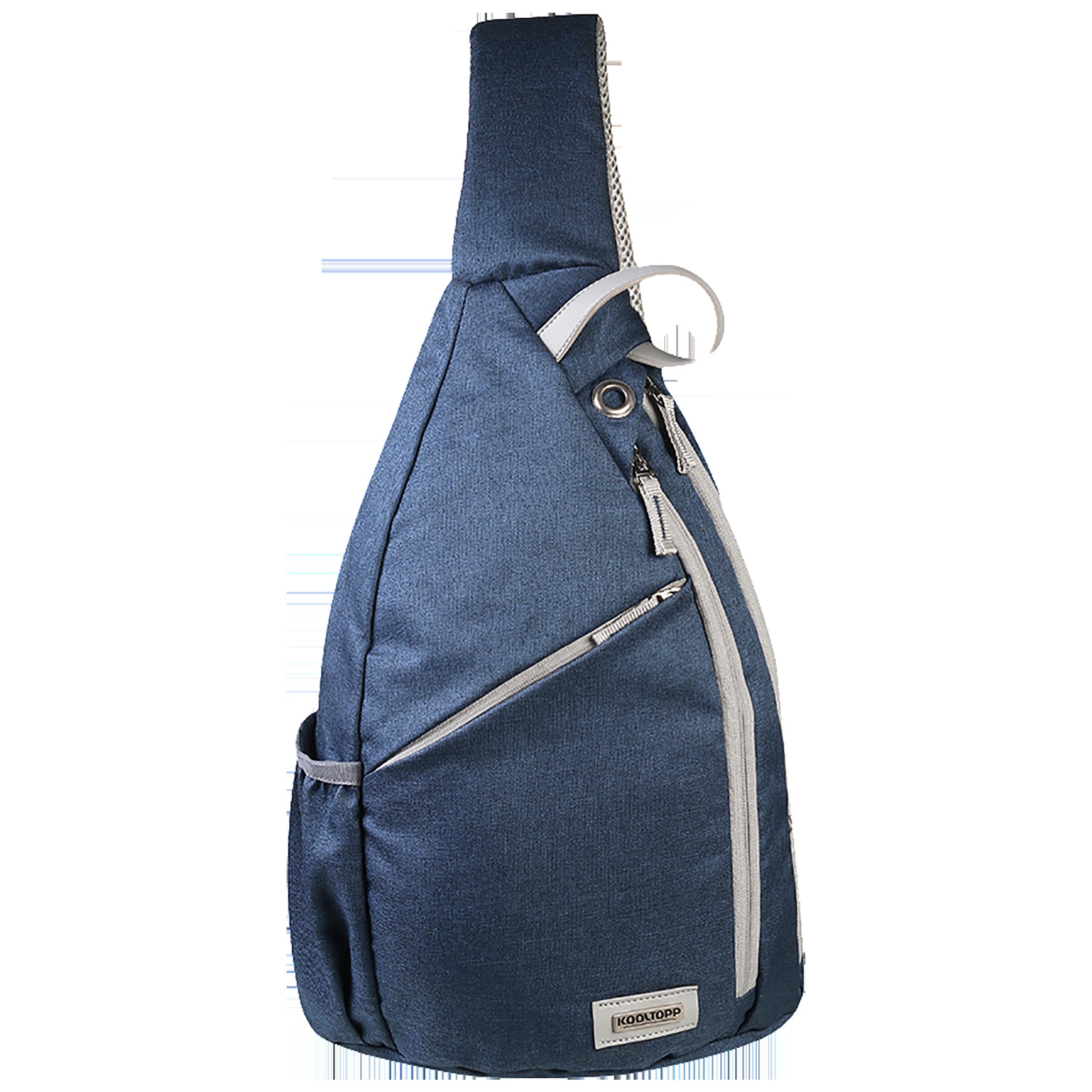 Kooltopp Classy Cross Body 13 Litres Polyester Sling Bag (Water Resistant, KT440-04, Blue/Silver)_1