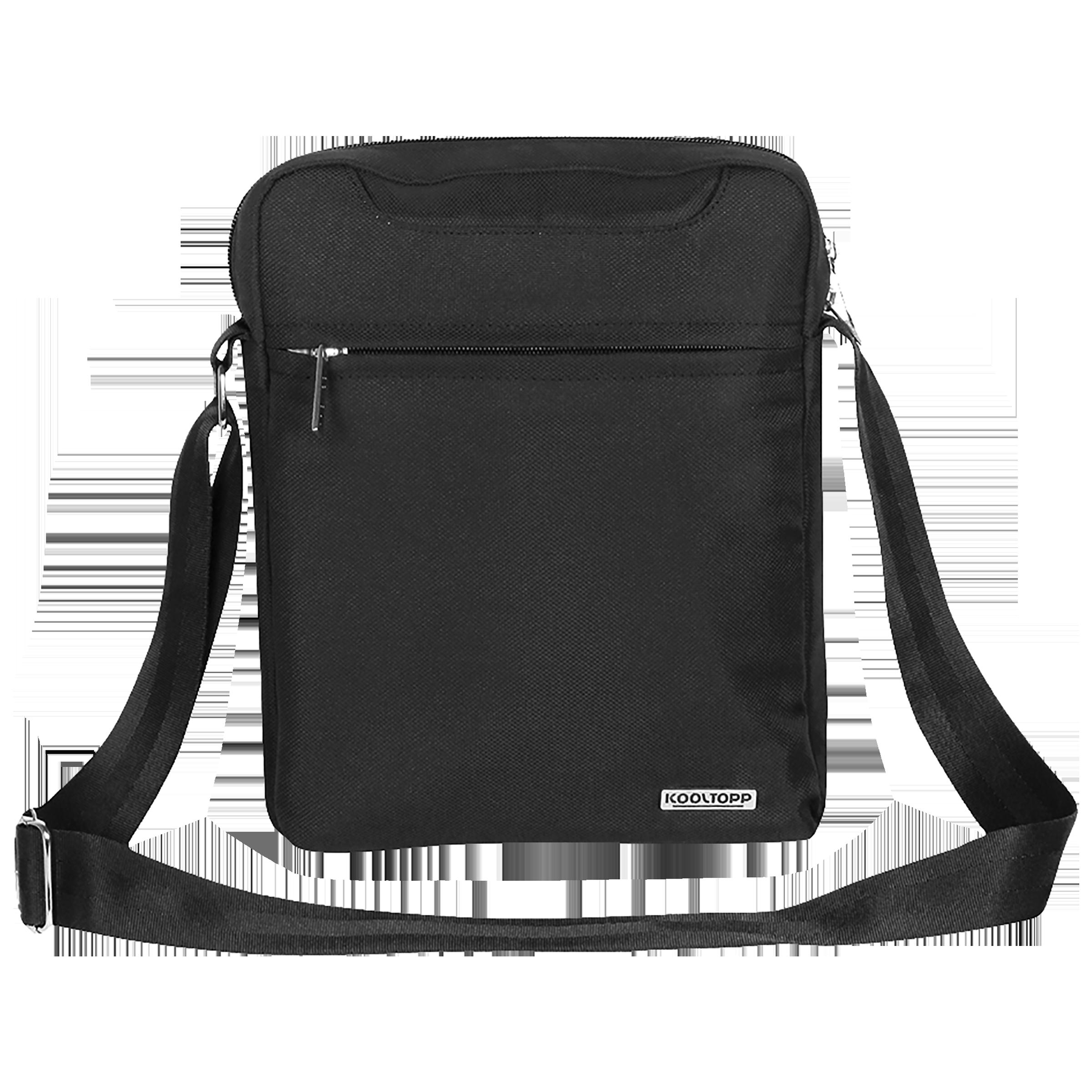 Kooltopp Suave 4 Litres Polyester Sling Bag (Water Resistant, KT516-01, Black)_1