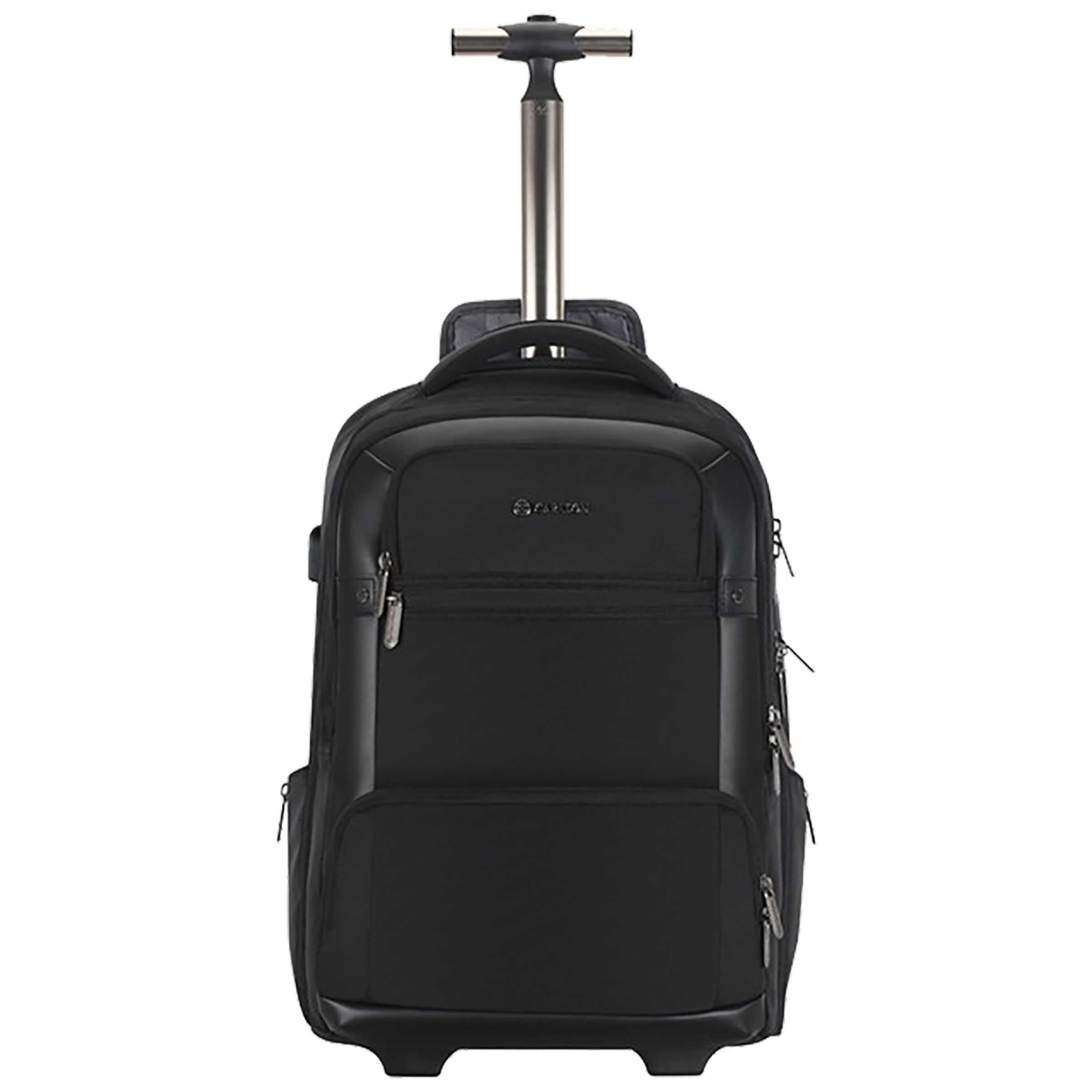Carlton Hampshire 05 29 Litres 1684 Faux Nylon Trolley Backpack for 16 Inch Laptop (Single Stem Strolley, LPBPHAM5BLK, Black)_1