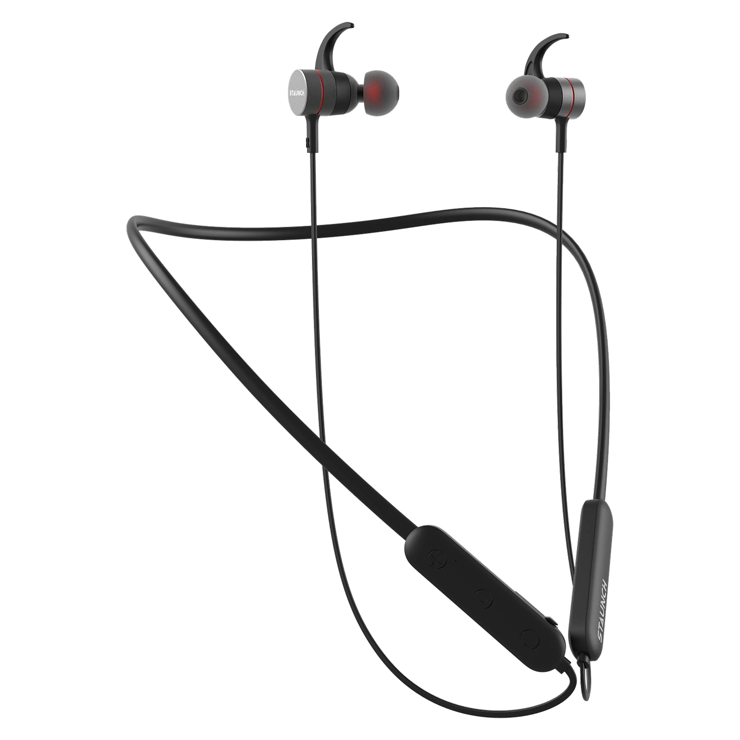 Staunch Flex 250 In-Ear Noise Isolation Wireless Earphone with Mic (Bluetooth 4.0, IPX3 Sweat-Resistant, Black)_1