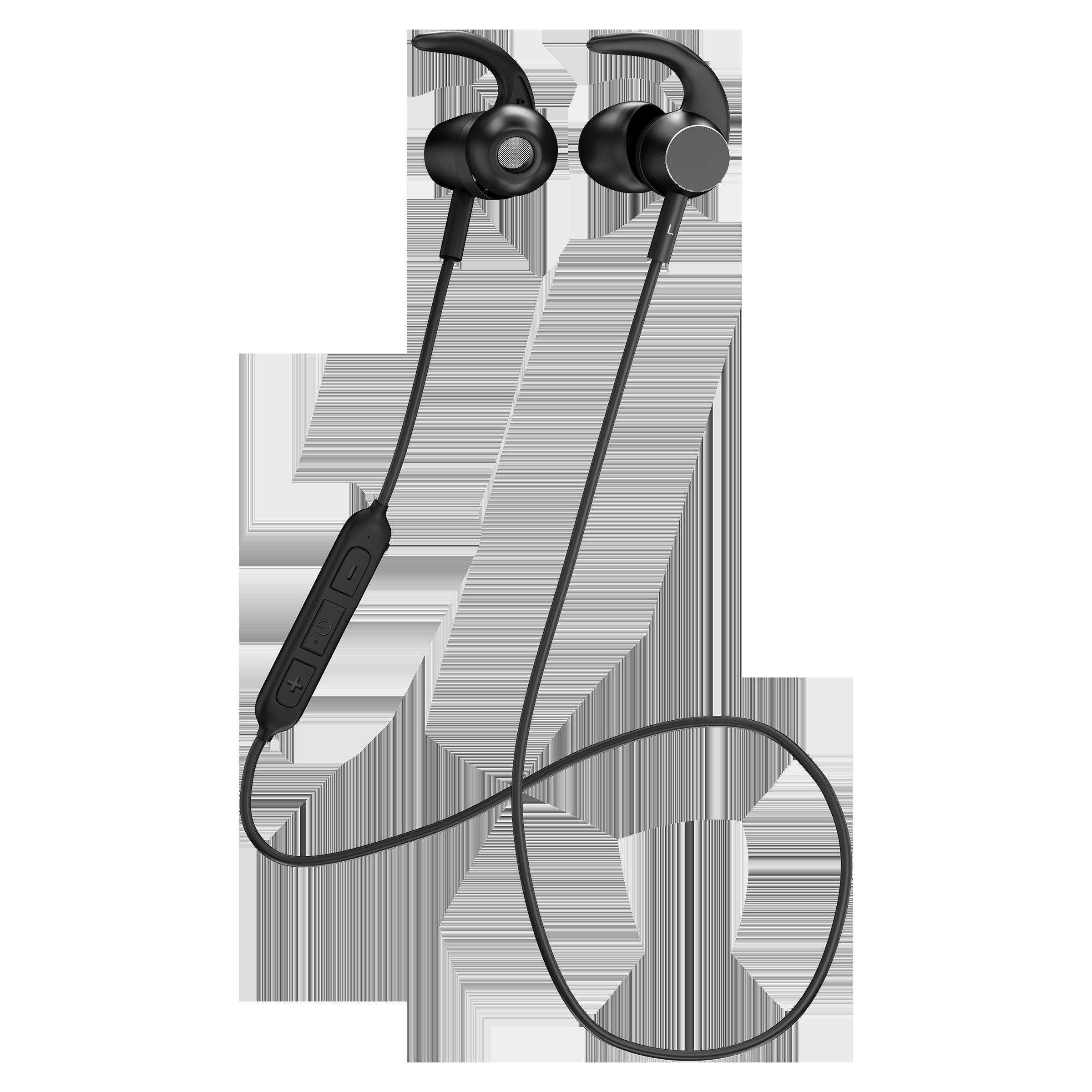Staunch Flex 200 In-Ear Wireless Earphone with Mic (Bluetooth 5.0, IPX4 Sweat-Resistant, Black)_1