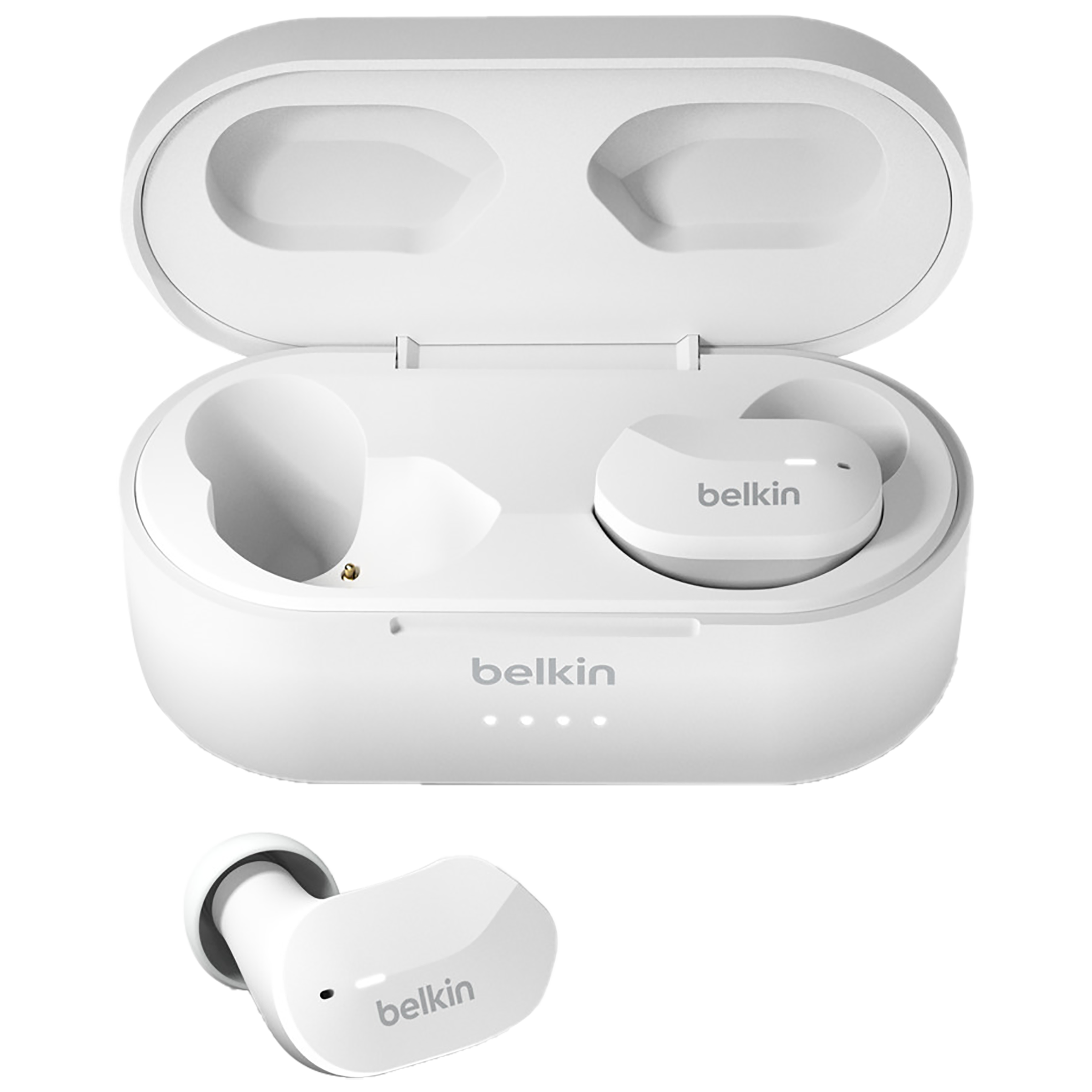 Belkin Soundform In-Ear Noise Isolation Truly Wireless Earbuds with Mic (Bluetooth, IPX5 Rated, AUC001btWH, White)