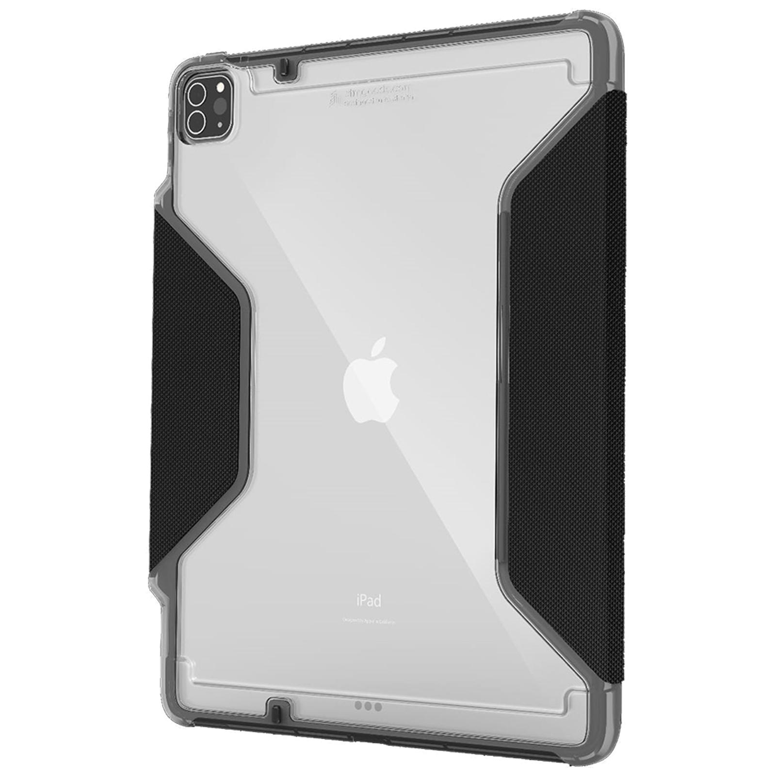 STM Rugged Plus Polycarbonate, Rubberised TPU, Polyurethane Flip Case For iPad Pro 11 Inch (Instant On/Off Cover, STM-222-328KZ-01, Black)_1