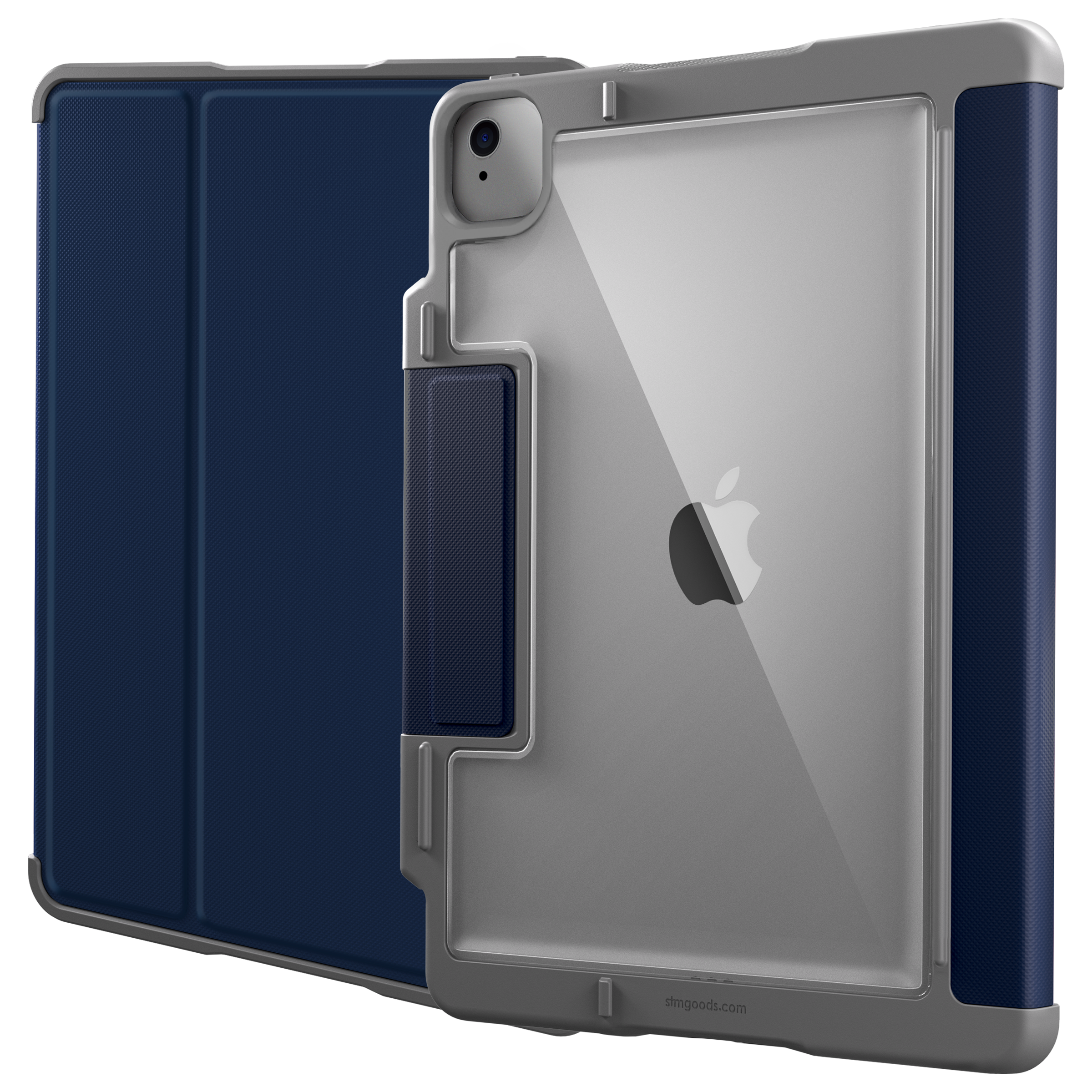 STM Rugged Plus Polycarbonate, Rubberised TPU, Polyurethane Flip Case For iPad Pro 11 Inch (Instant On/Off Cover, STM-222-328KZ-02, Blue)_1