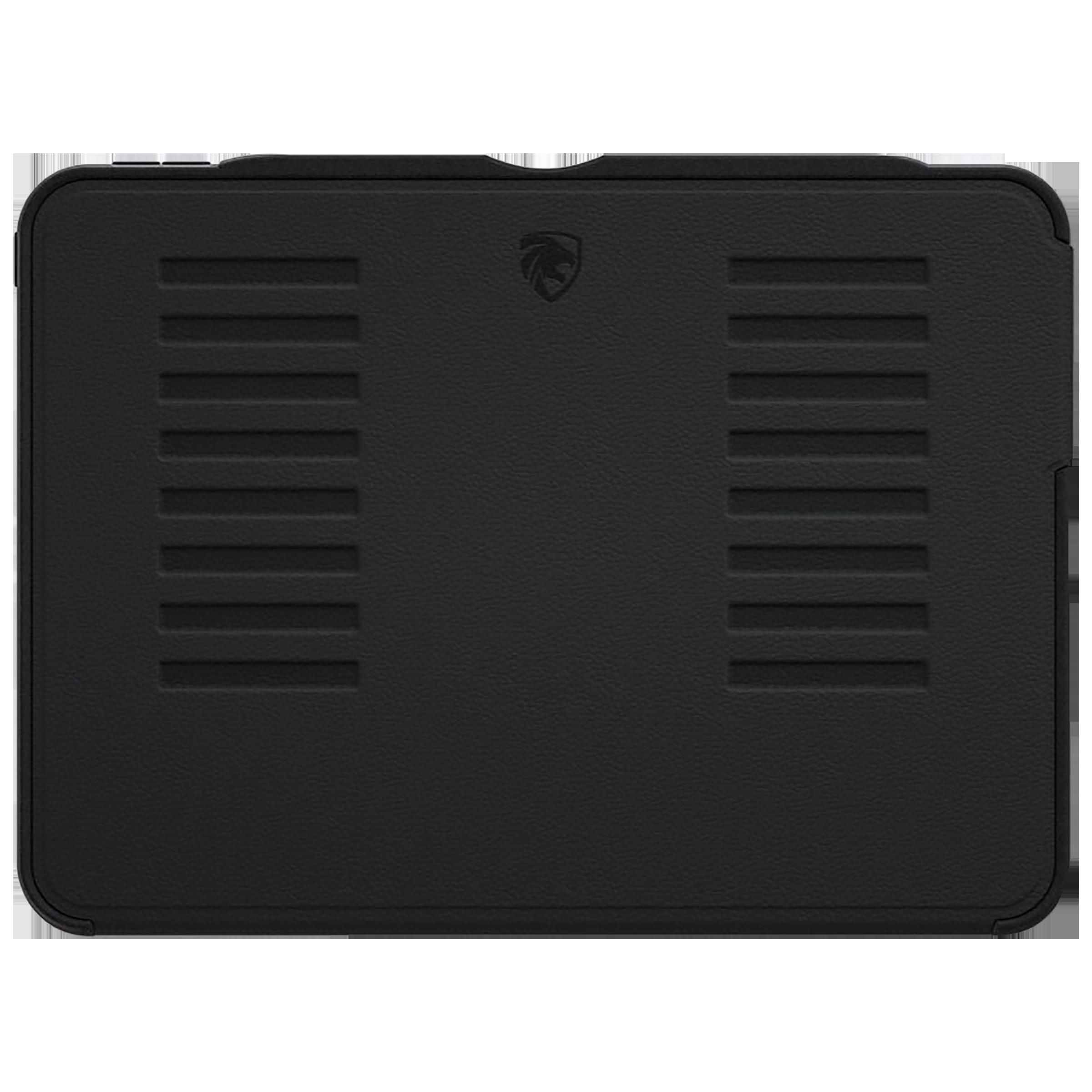 Zugu Alpha Polycarbonate Back Case with Stand For iPad Pro 12.9 (4th Gen) (Soft Microfiber Interior, ZG-20-129BLK, Black)_1