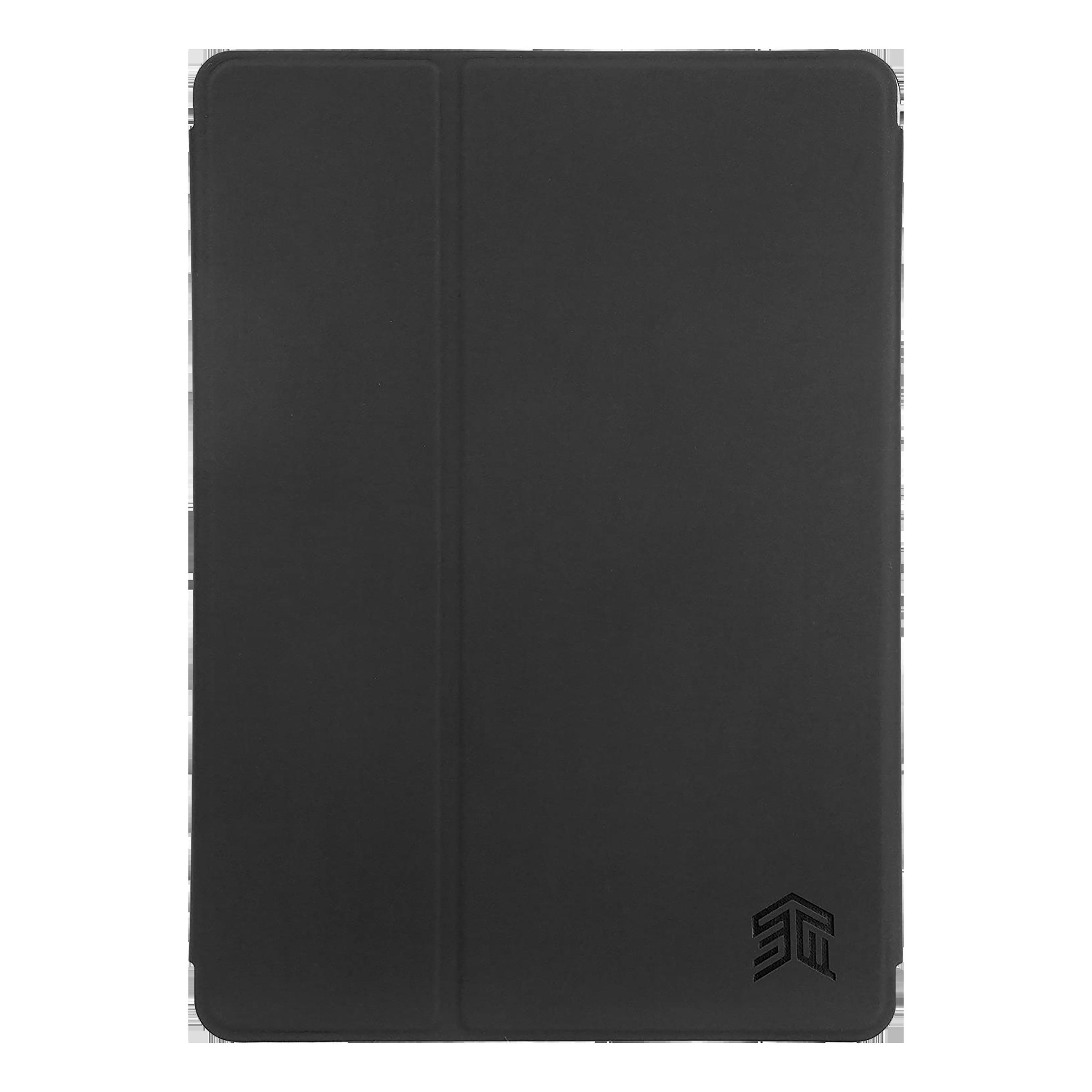 STM Studio Polycarbonate Flip Case with Stand For iPad 9.7 (5th Gen/ 6th Gen) / Pro 9.7 (Multi Fit Design, STM-222-161JW-01, Black Smoke)_1