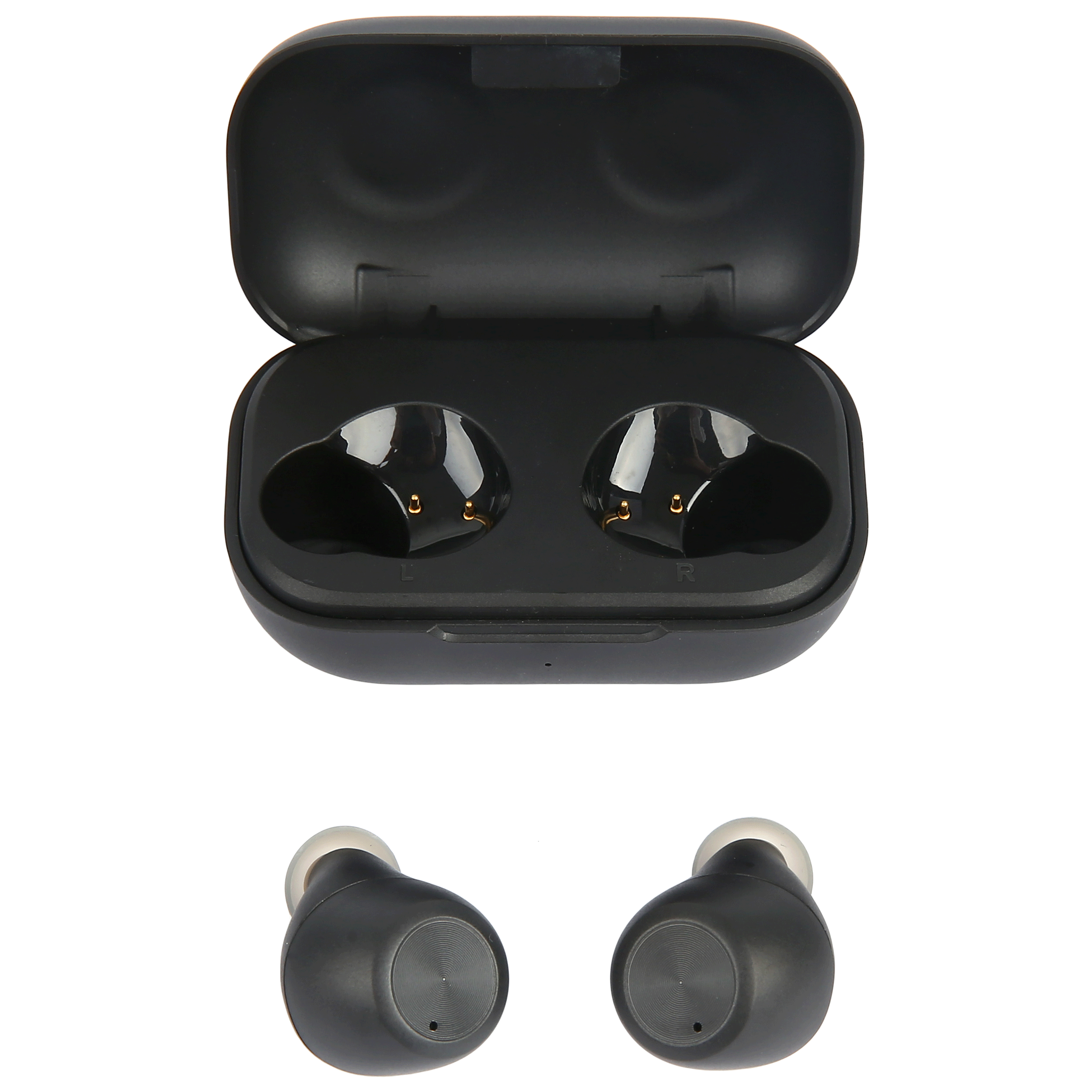 Croma Touch Control In-Ear Truly Wireless Earbuds with Mic (Bluetooth 5.0, IPX4 Water Resistant, CREA7311, Black)_1