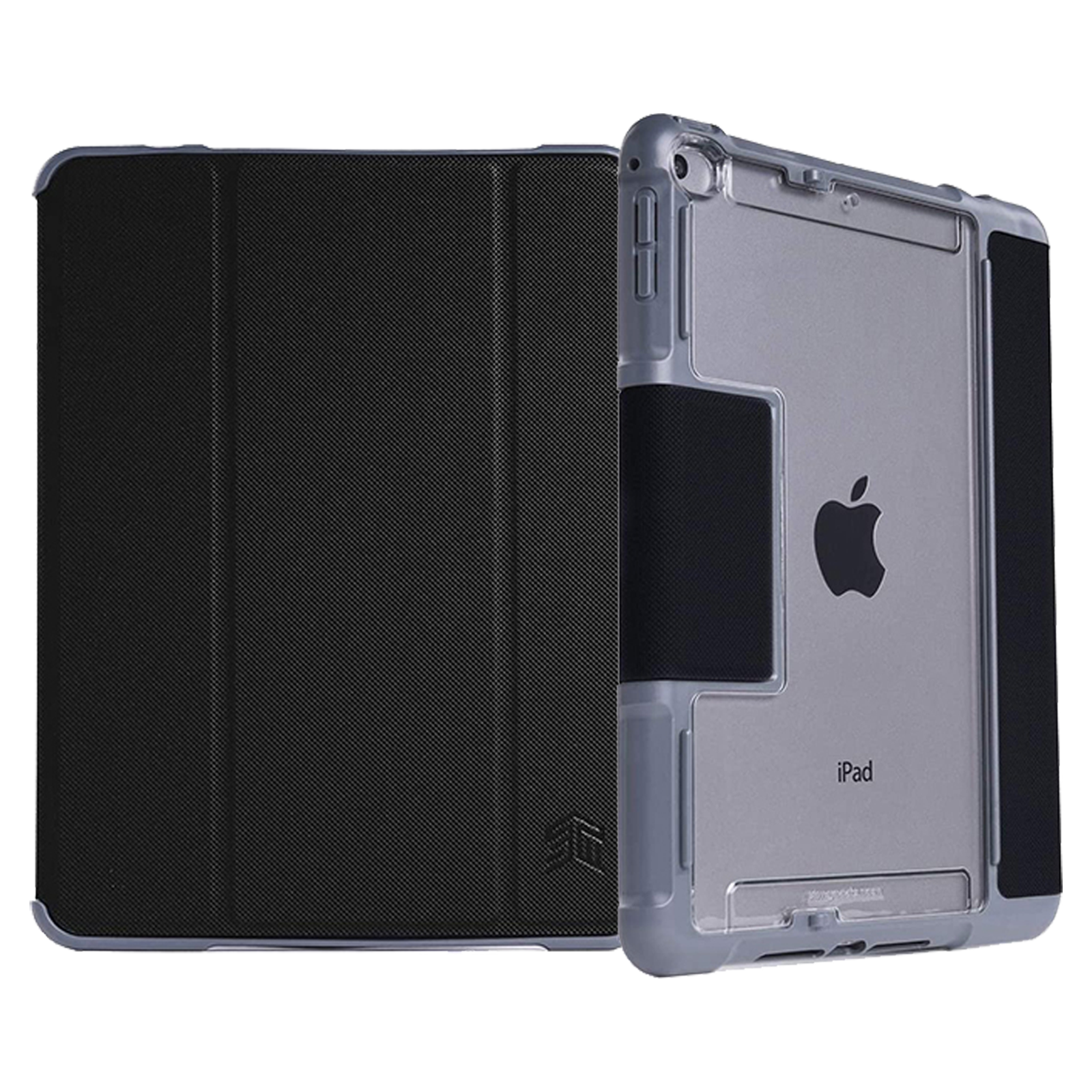 STM Dux Plus Duo Polyurethane Flip Case For iPad Mini 4/5th Gen (Instant On/Off Cover, STM-222-236GY-01, Black)_1