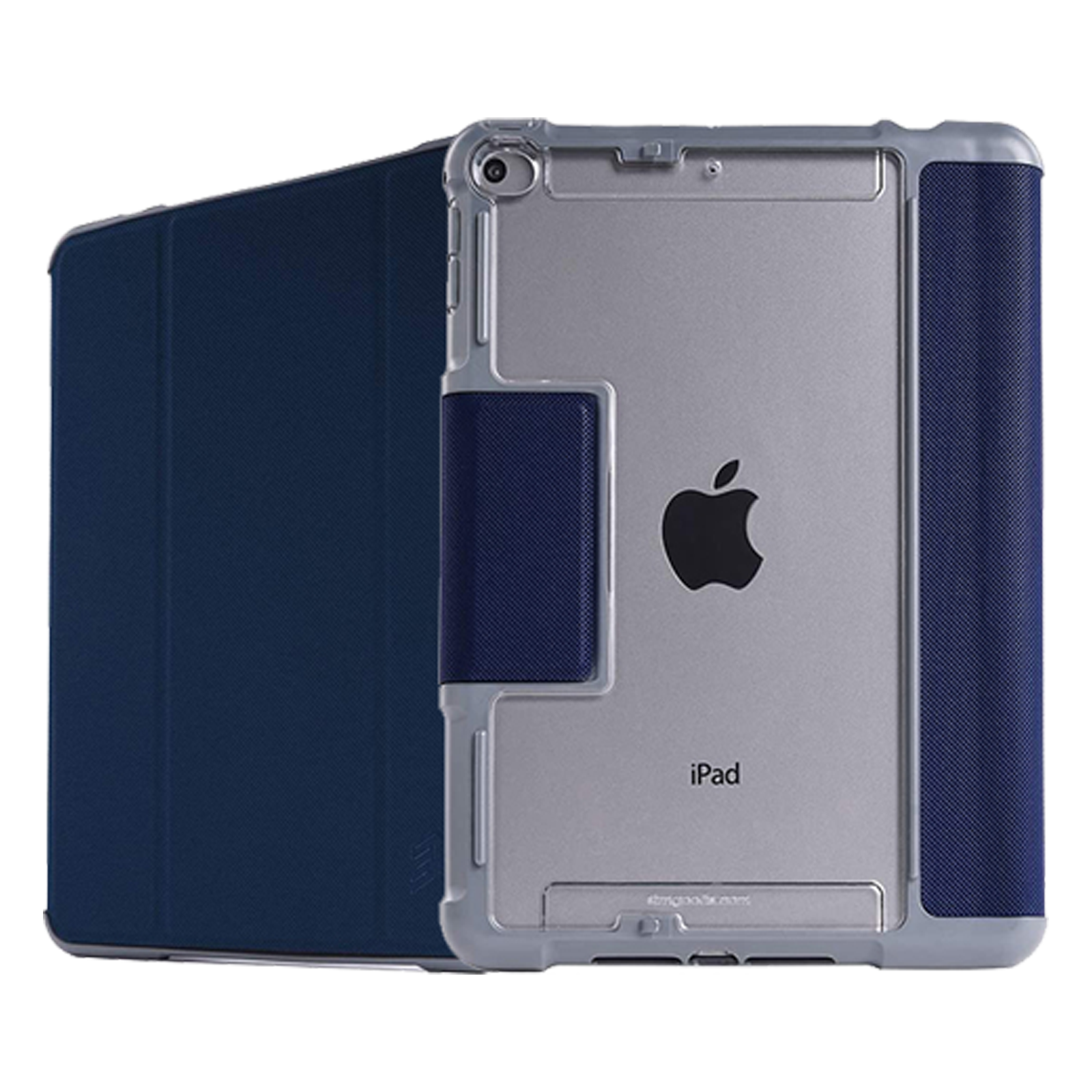 STM Dux Plus Duo Polyurethane Flip Case For iPad Mini 4/5th Gen (Instant On/Off Cover, STM-222-236GY-03, Midnight Blue)_1
