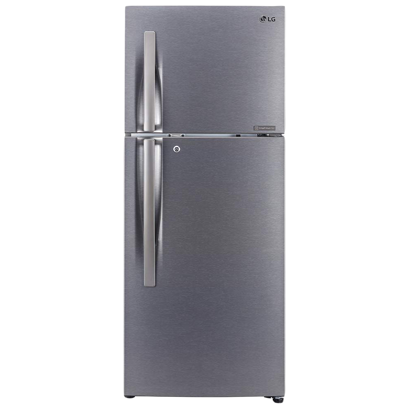 LG 260 Litres 2 Star Frost Free Smart Inverter Double Door Refrigerator (Multi Air Flow Cooling Technology, GL-N292RDSY, Dazzle Steel)_1