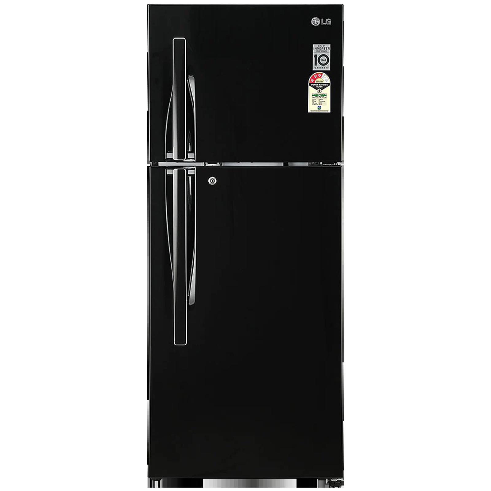 LG 260 Litres 3 Star Frost Free Smart Inverter Double Door Refrigerator (Convertible Plus, GL-T292RESX, Ebony Sheen)_1