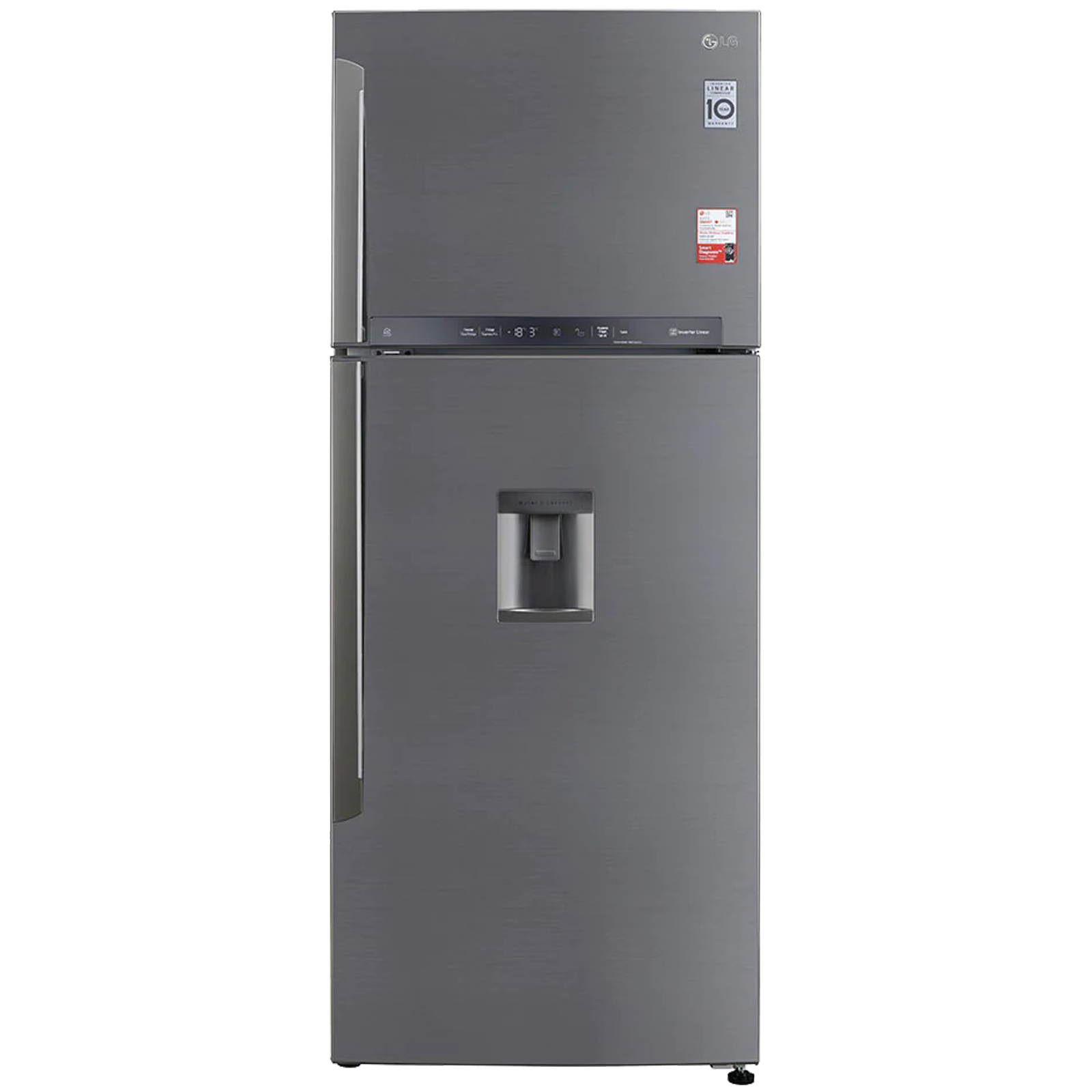LG 471 Litres 3 Star Frost Free Linear Inverter Double Door Refrigerator (Convertible Functionality, GL-T502XPZ3, Ebony Shiny Steel)_1