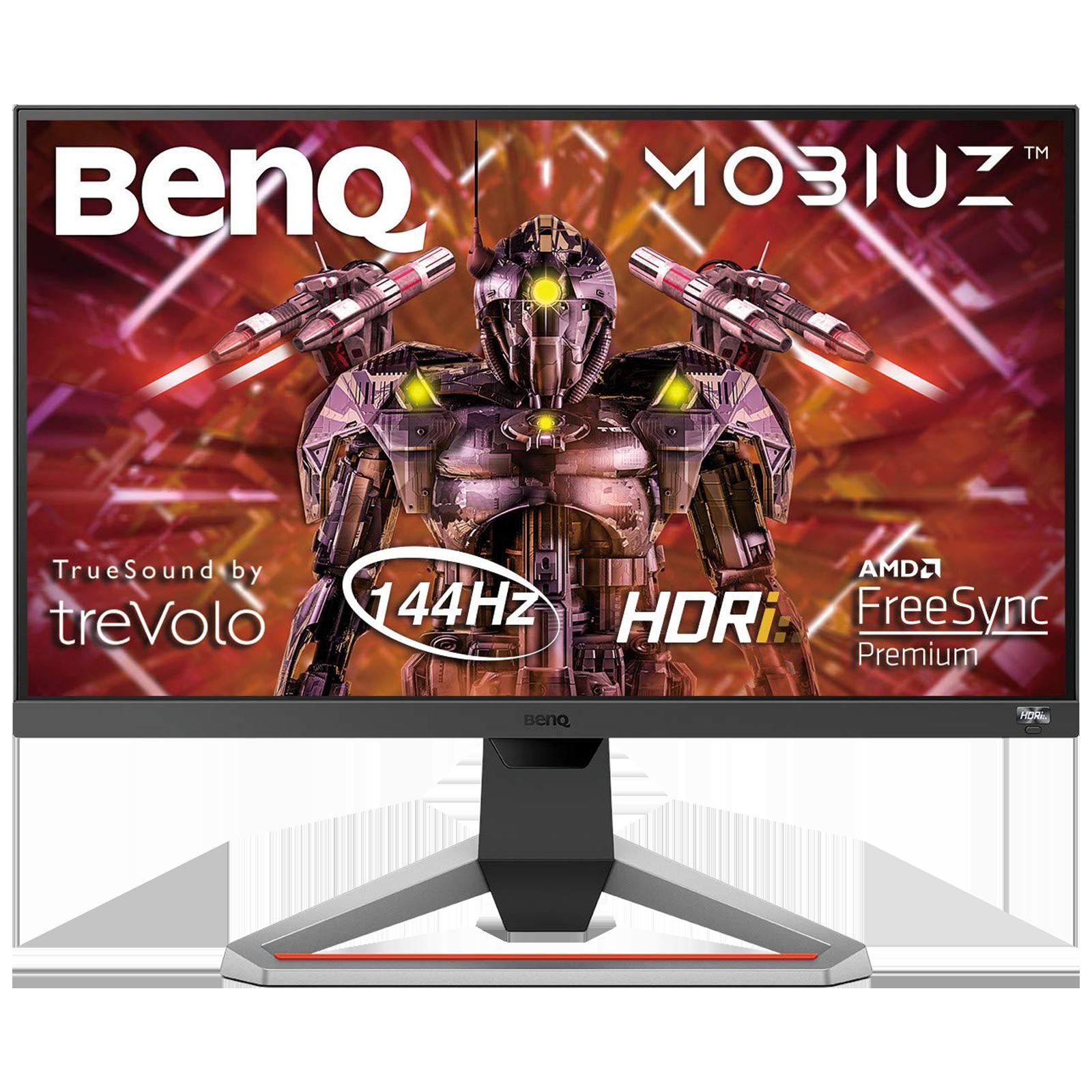 BenQ 62.23cm (24.5 Inches) Full HD IPS Screen Gaming Monitor (Brightness Intelligence Plus Technology, HDMI + Display Port, 144 Hz, EX2510, Black)_1