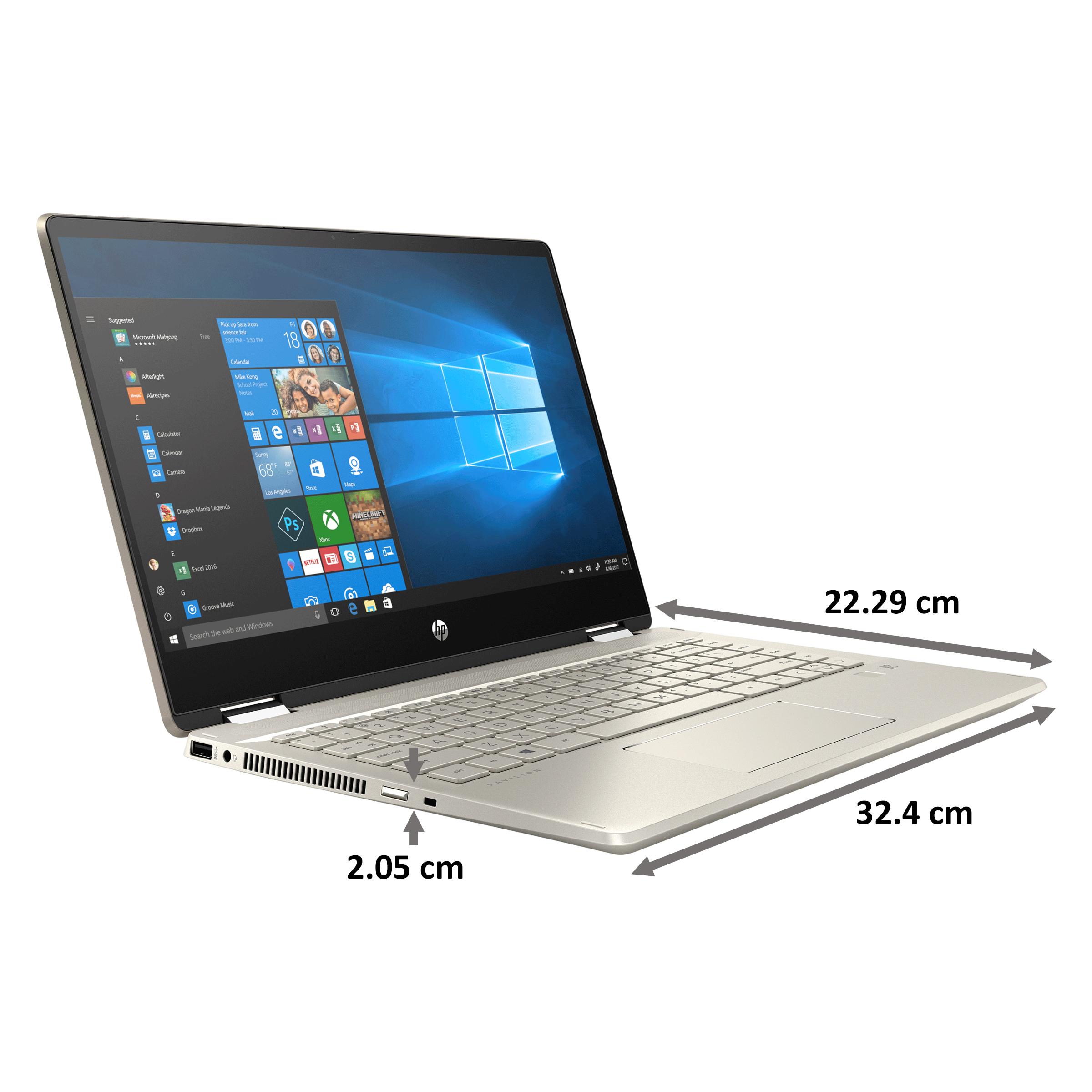 HP Pavilion x360 Convertible 14-dh1502TU (401S0PA#ACJ) Core i3 10th Gen Windows 10 Home 2-in-1 Laptop (8GB RAM, 512GB SSD, Intel UHD Graphics, MS Office, 35.56cm, Warm Gold)_2