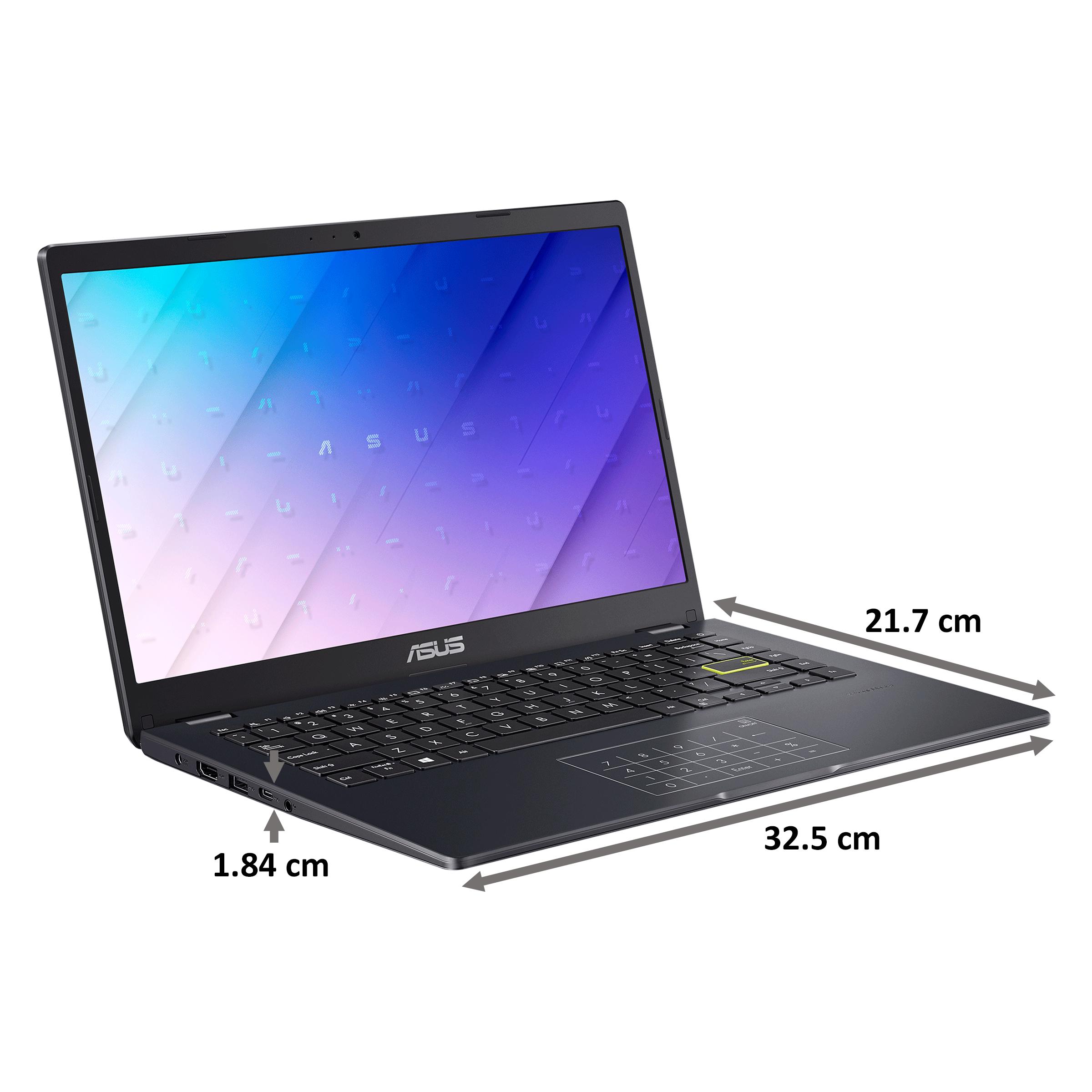 Asus E410MA-EB001T (90NB0Q11-M22940) Celeron Windows 10 Home Laptop (4GB RAM, 256GB SSD, Intel UHD Graphics 600, 35.56cm, Peacock Blue) 2