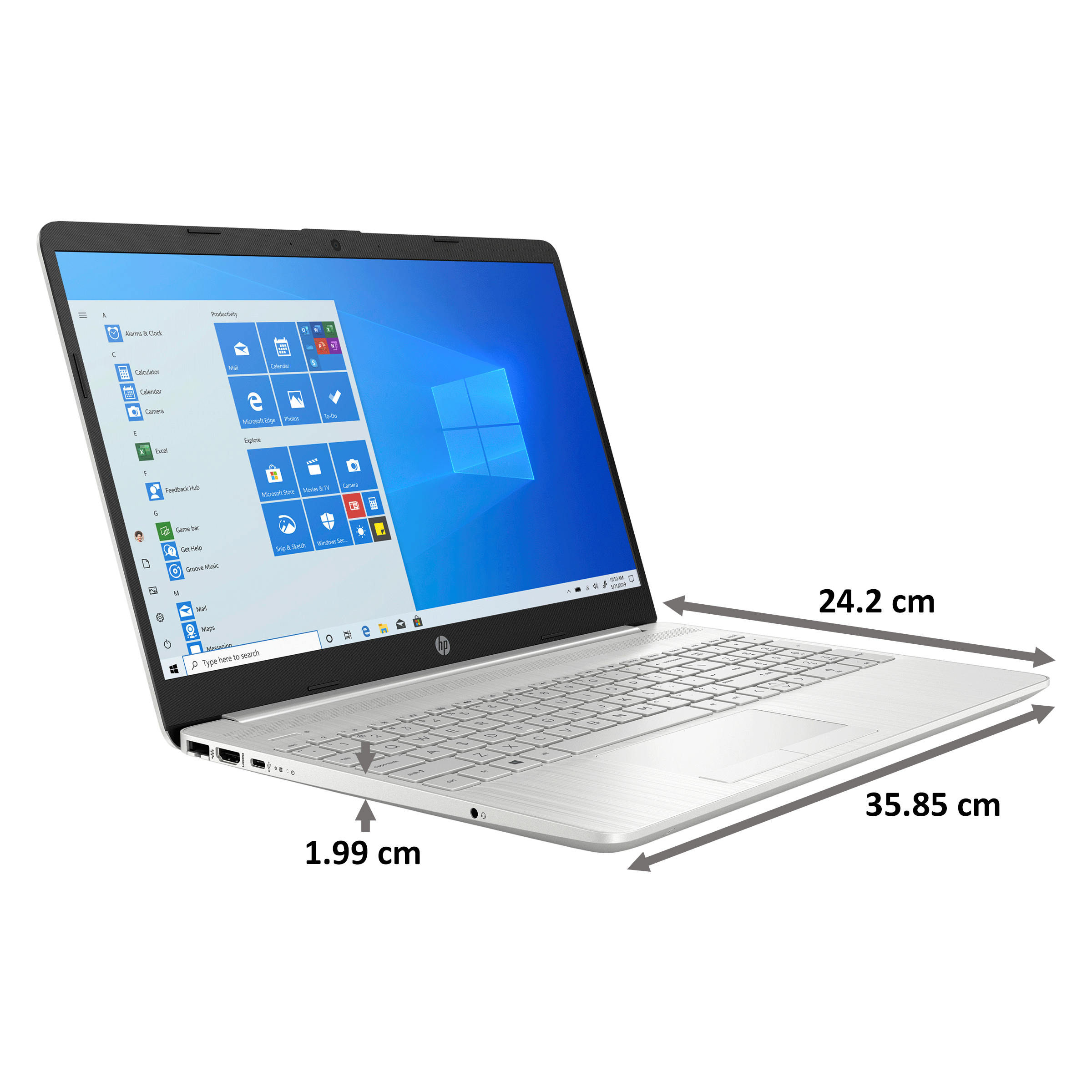 HP 15s-gr0500AU (440L7PA#ACJ) Ryzen 5 Windows 10 Home Laptop (8GB RAM, 512GB SSD, AMD Radeon Vega 8 Graphics, MS Office, 39.62cm, Natural Silver) 2