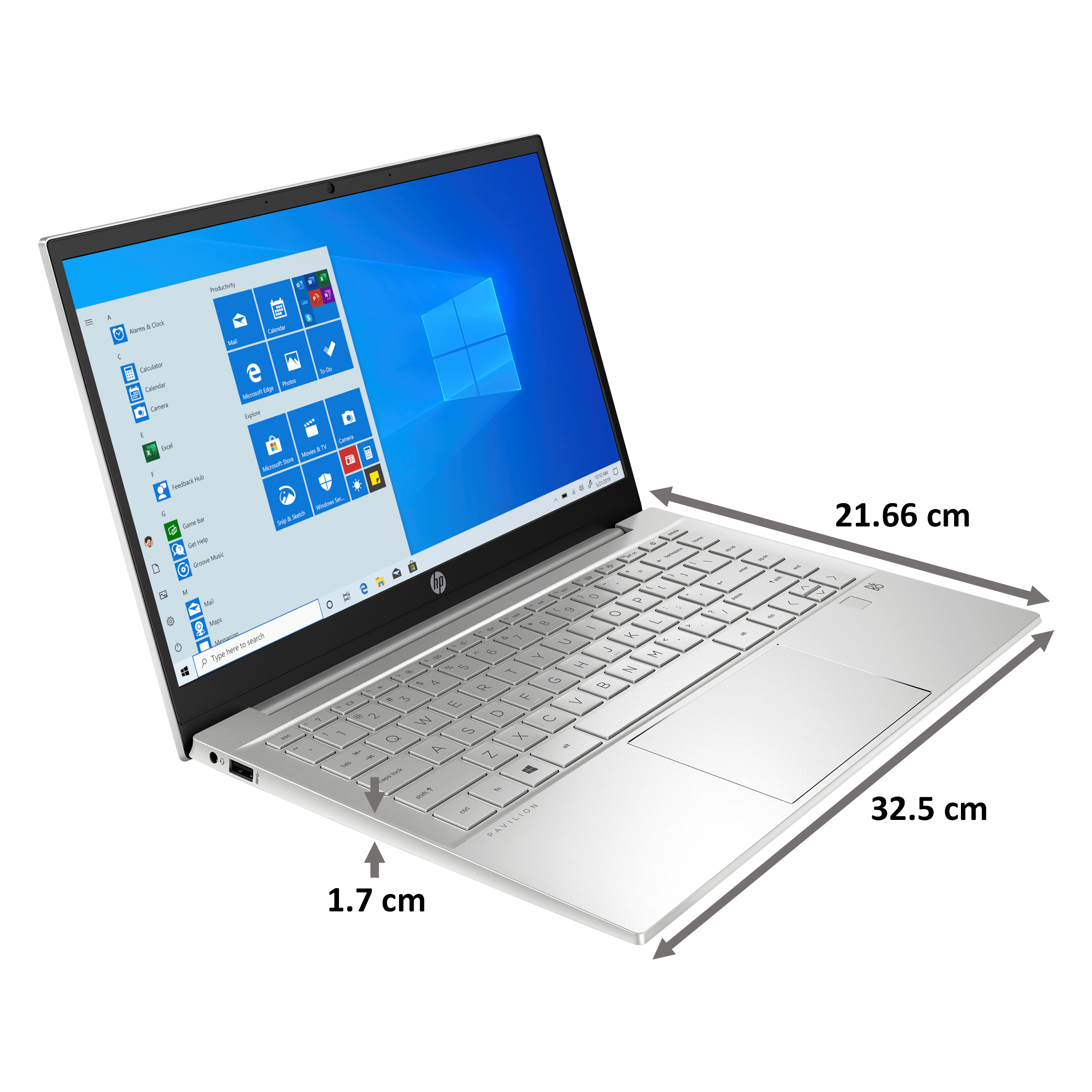 HP Pavilion 14-dv0086TX (397L9PA#ACJ) Core i5 11th Gen Windows 10 Home Laptop (16GB RAM, 512GB SSD, GeForce MX450 + 2GB Graphics, MS Office,... 2